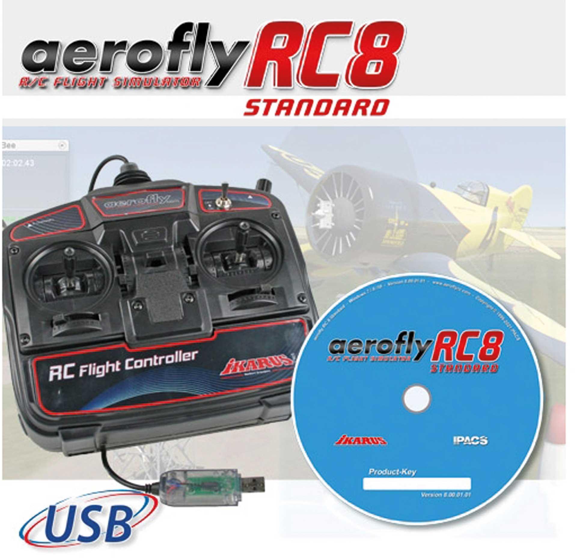 IKARUS AeroFly RC8 Standard DVD incl. USB Flight-Controller