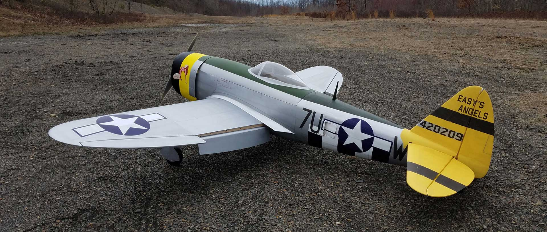 """ACES HIGH P-47D 65"""" ARF WARBIRD WITH ELECTRICAL RETRACTABLE UNDERCARRIAGE"""