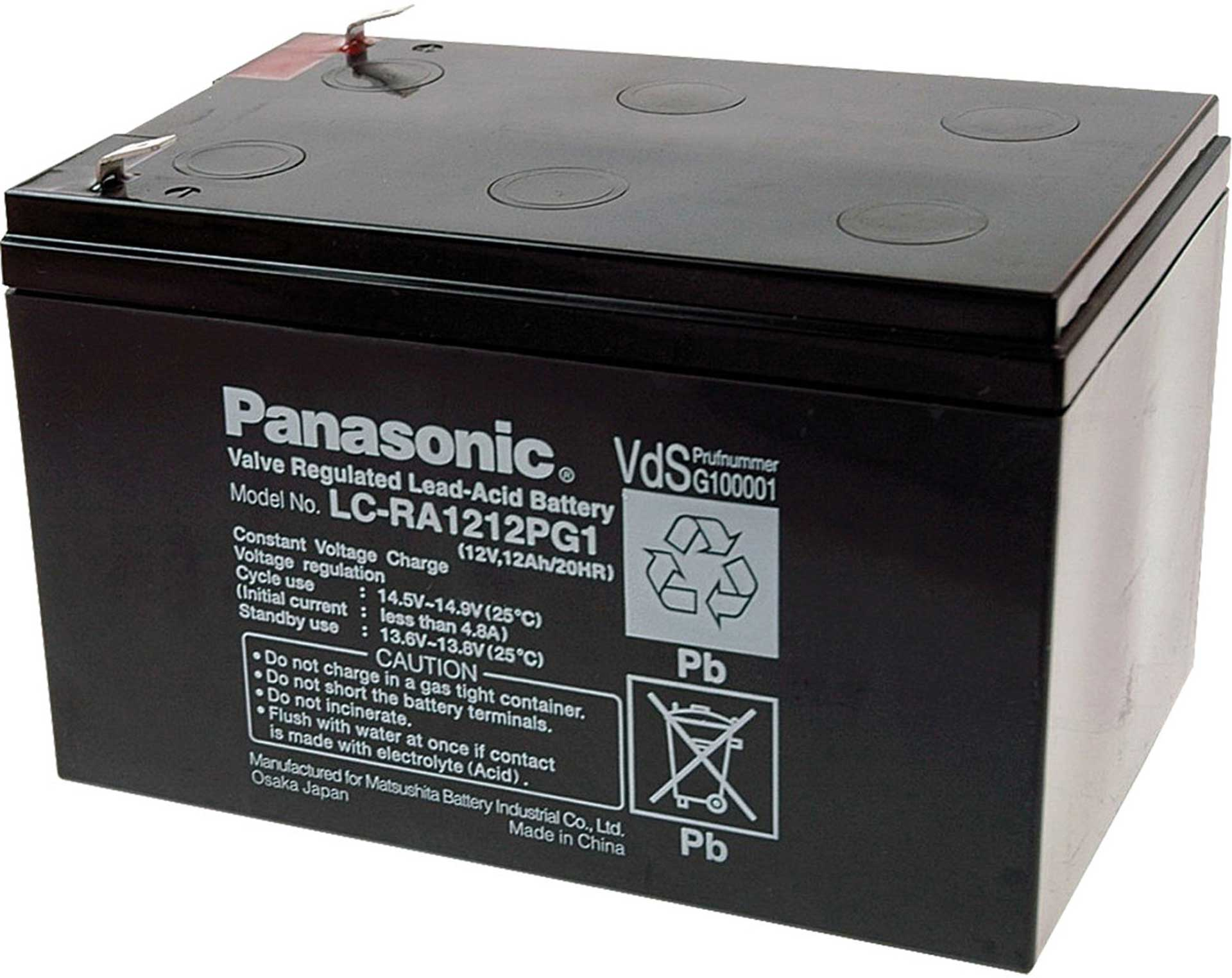 PANASONIC LEAD ACID BATTERY 12V/12AH