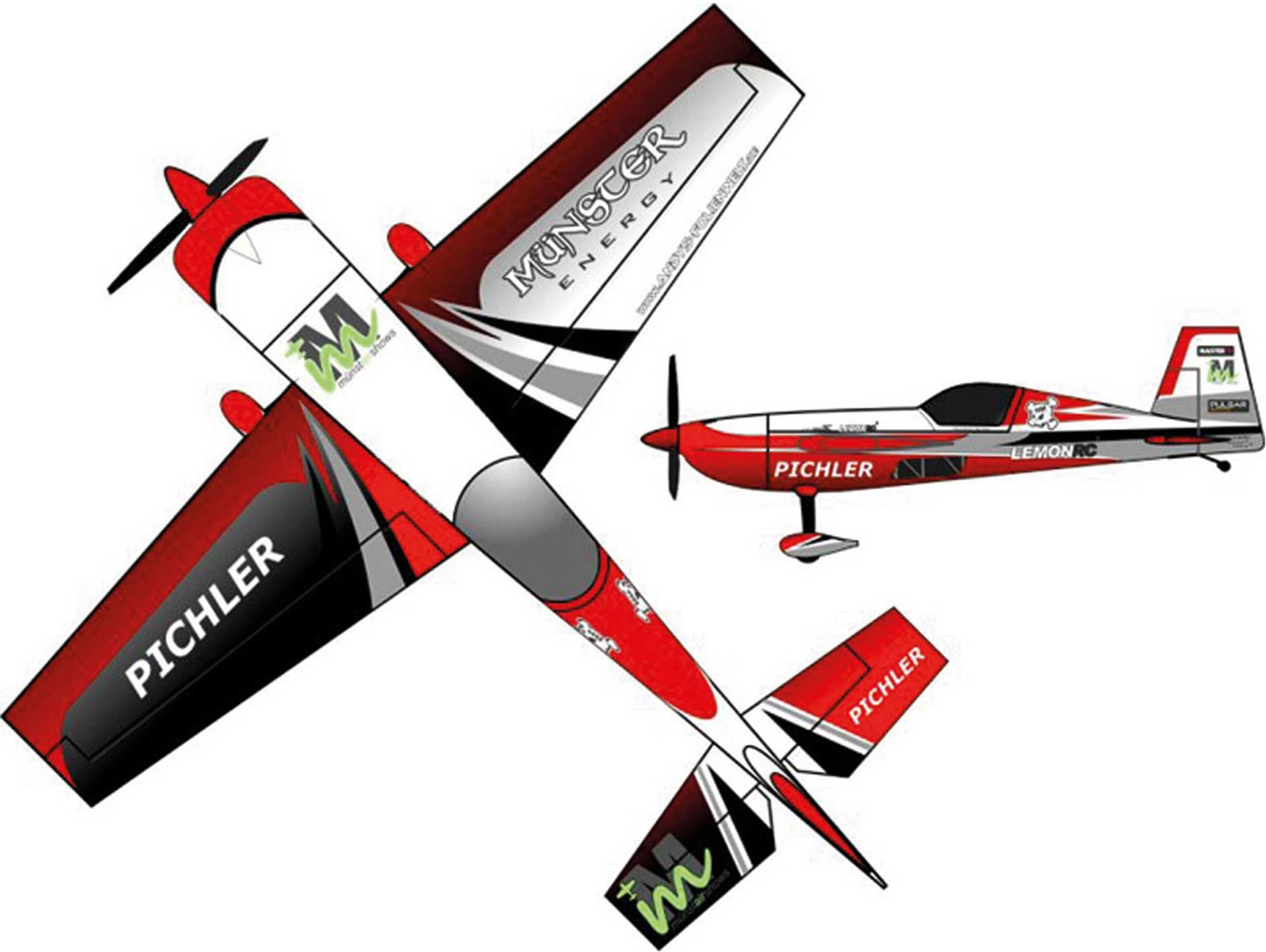 PICHLER EXTRA 330 MÜNSTER ENERGY RED 840 MM
