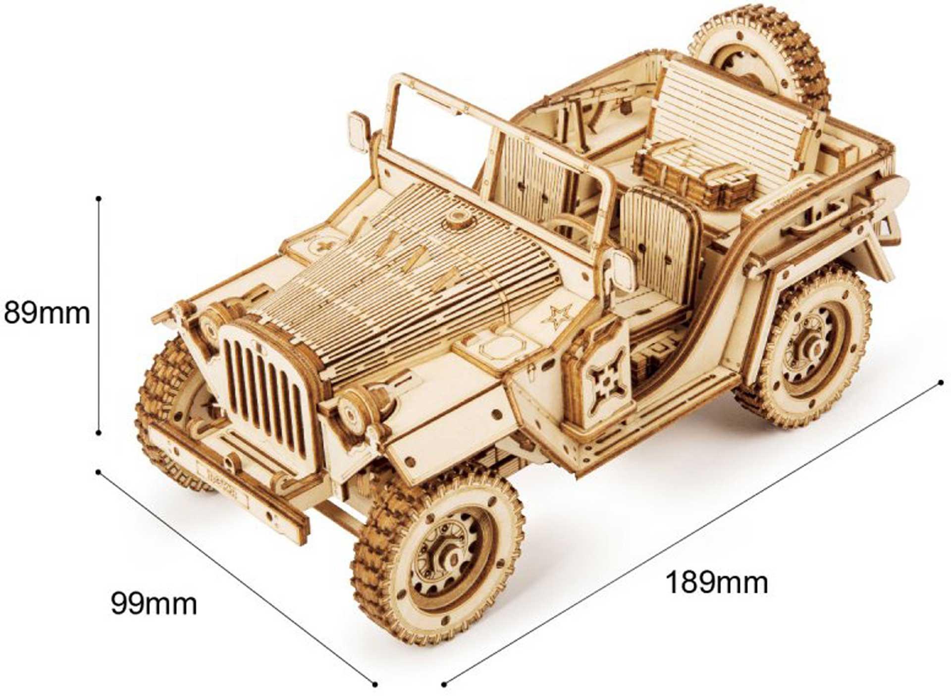 PICHLER Army Jeep (Lasercut Holzbausatz)