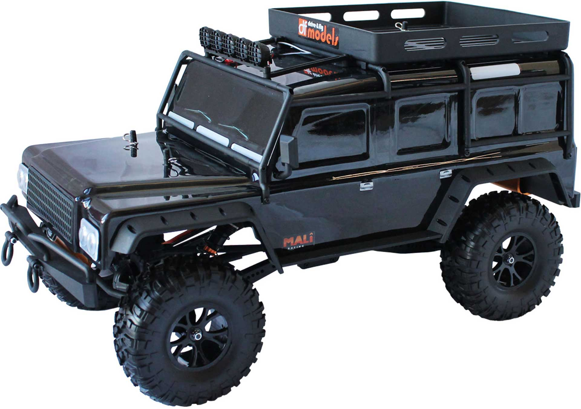 DRIVE & FLY MODELS DF-4J CRAWLER XXL RTR BLACK 4WD 1/10 WITH LIGHTING AND 5CH TRANSMITTER