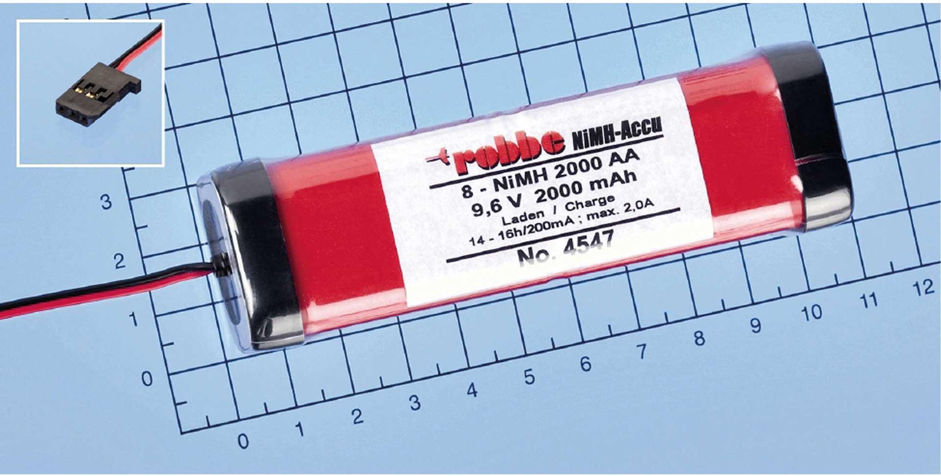 Robbe Modellsport SENDERAKKU 9,6V/2000MAH NIMH T7C/T8U/T10