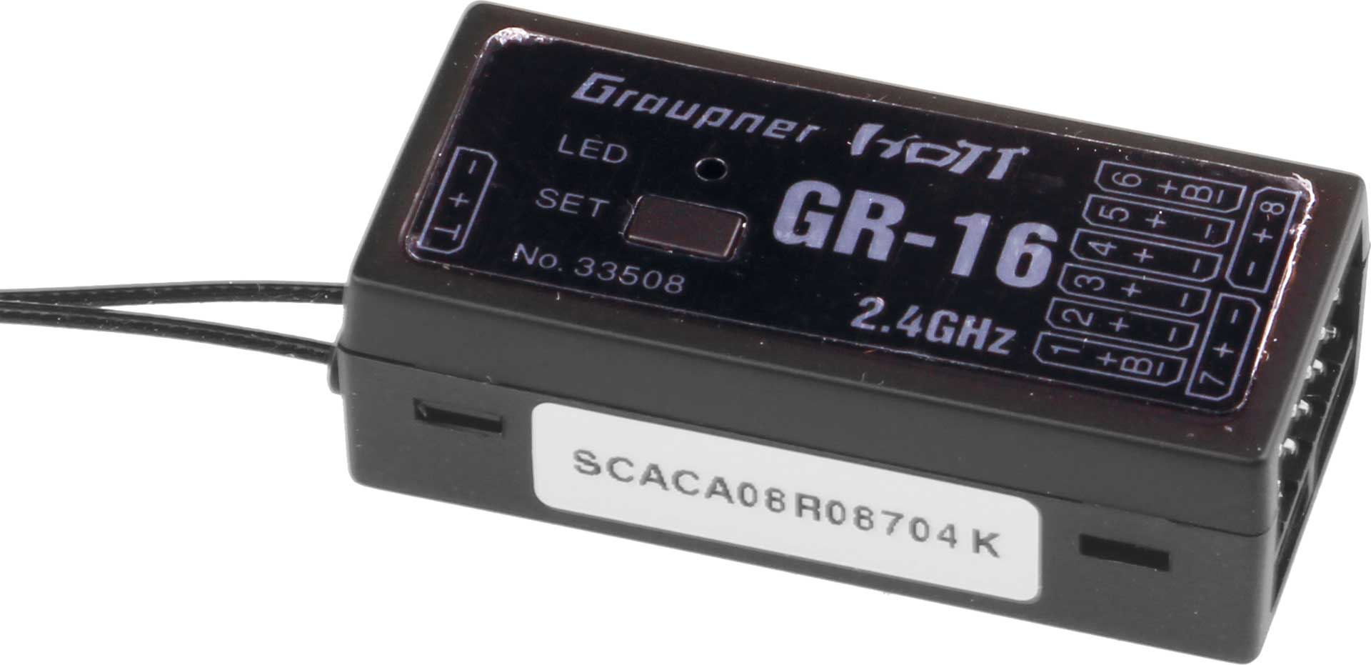 GRAUPNER GR-16 2,4GHZ HOTT 8K EMPFÄNGER