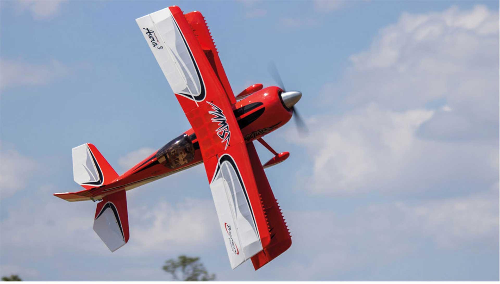 PREMIER AIRCRAFT MAMBA 70CC ARFSV DPPELDECKER ROT MIT EINGEBAUTEN DIGITAL HV SERVOS