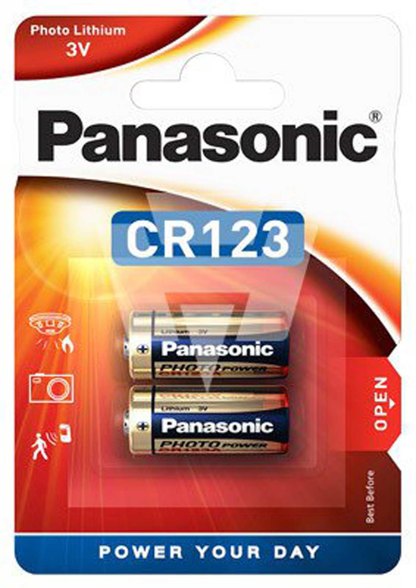 Panasonic CR123A 3V 1400 mAh (2)