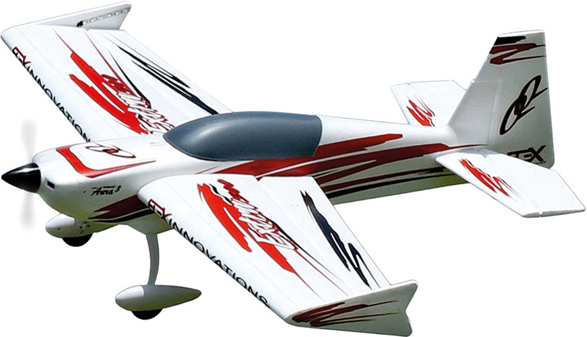 PREMIER AIRCRAFT QQ EXTRA 300 V2 RED/BLACK NIGHT SUPER PNP WITH LED LIGHTING AND AURA 8