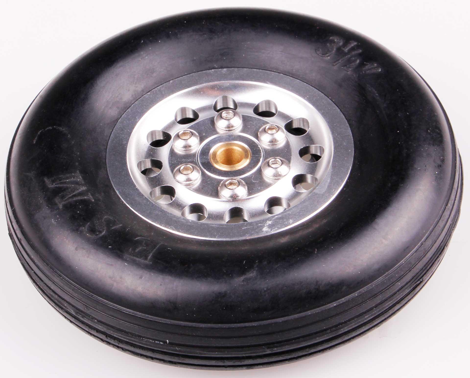 Robbe Modellsport Roue ø90x25mm ø5mm Axe de roue avec jante en aluminium 91 Gramm 1Stk.