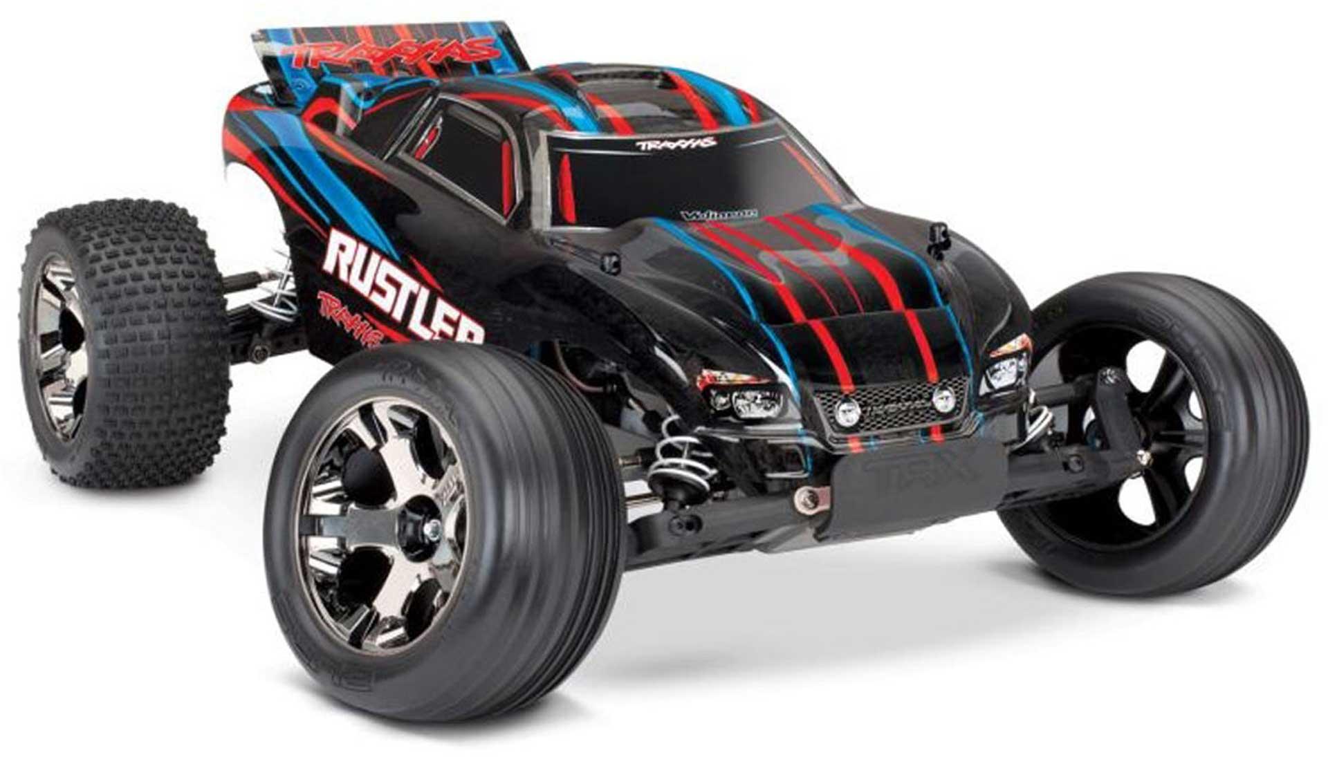 TRAXXAS RUSTLER VXL BL 2.4GHZ ROT BL 1/10 2WD OHNE AKKU/LADER STADIUM TRUCK BRUSHLESS