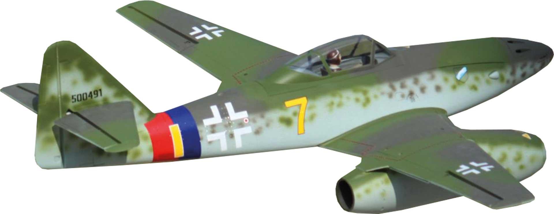 "FREEWING Messerschmitt Me 262 ""Yellow 7"" V2 Twin 70mm EDF Jet - PNP"