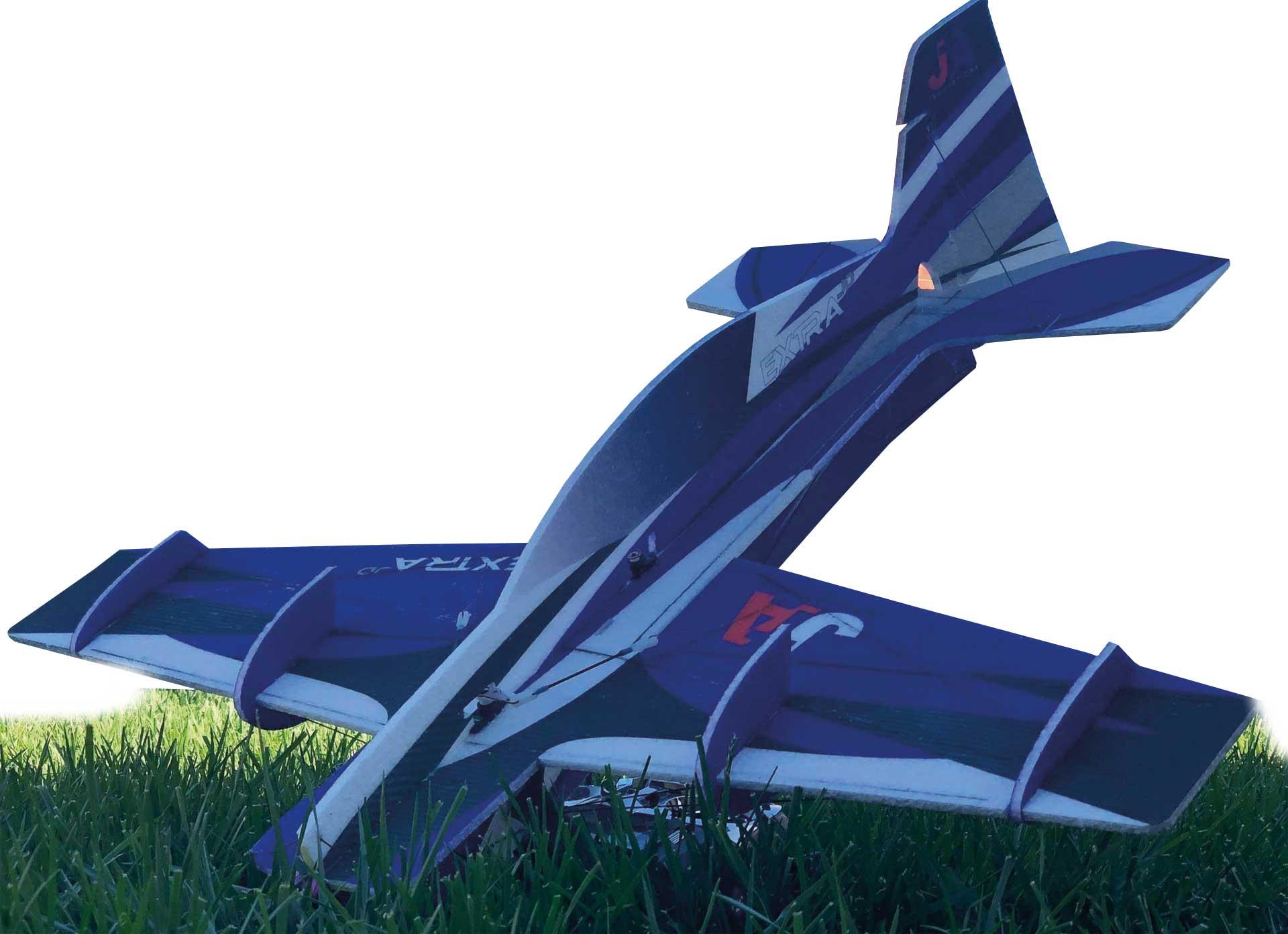 """JTA Innovations Extra JD bleu/noir/blanc 32"""" EPP Modèle acrobatique 3D"""