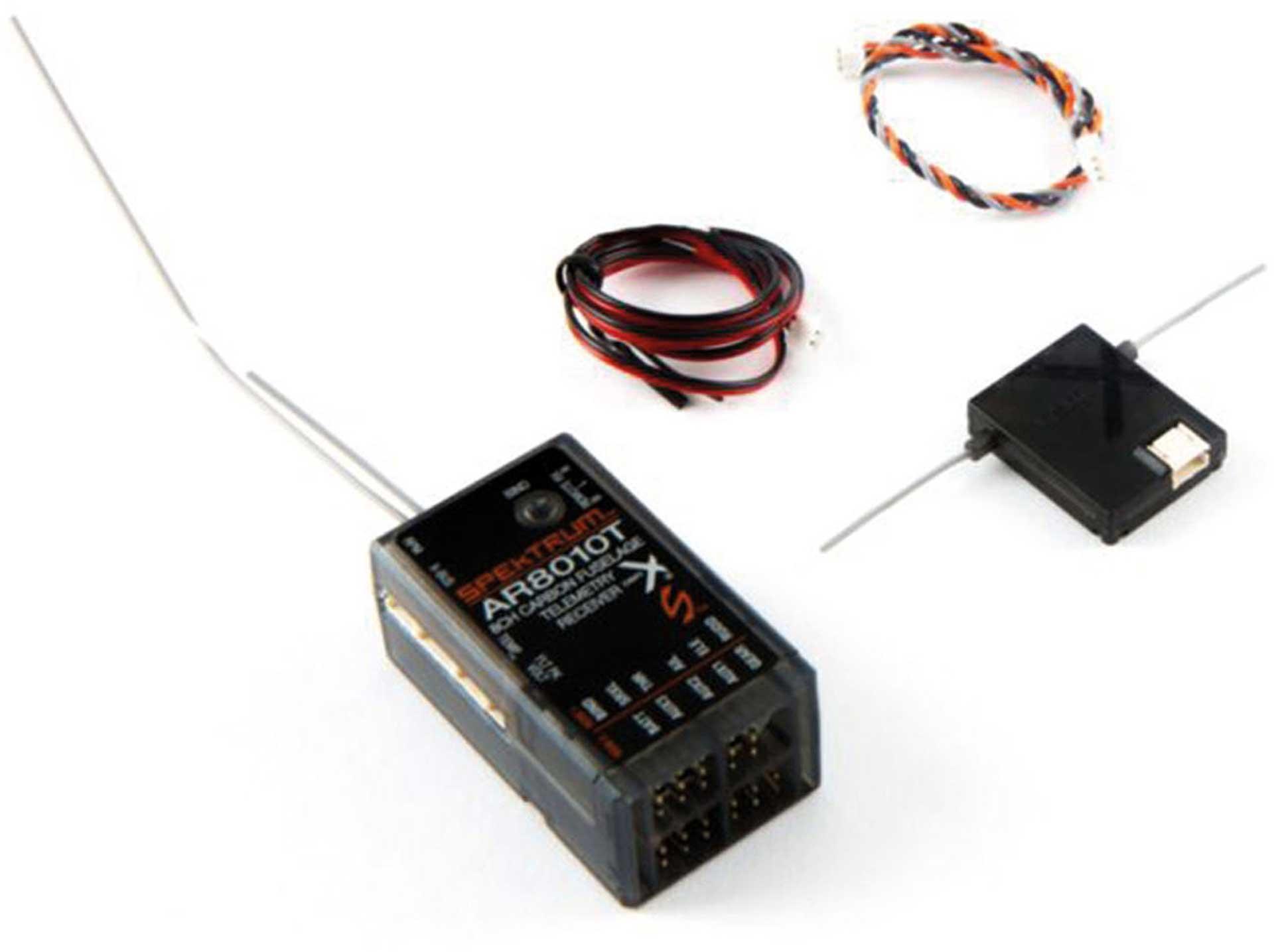 SPEKTRUM AR8010T RECEIVER DSM-X/DSM2 TELEMETRY WITH 1 SATELLITE RECEIVER
