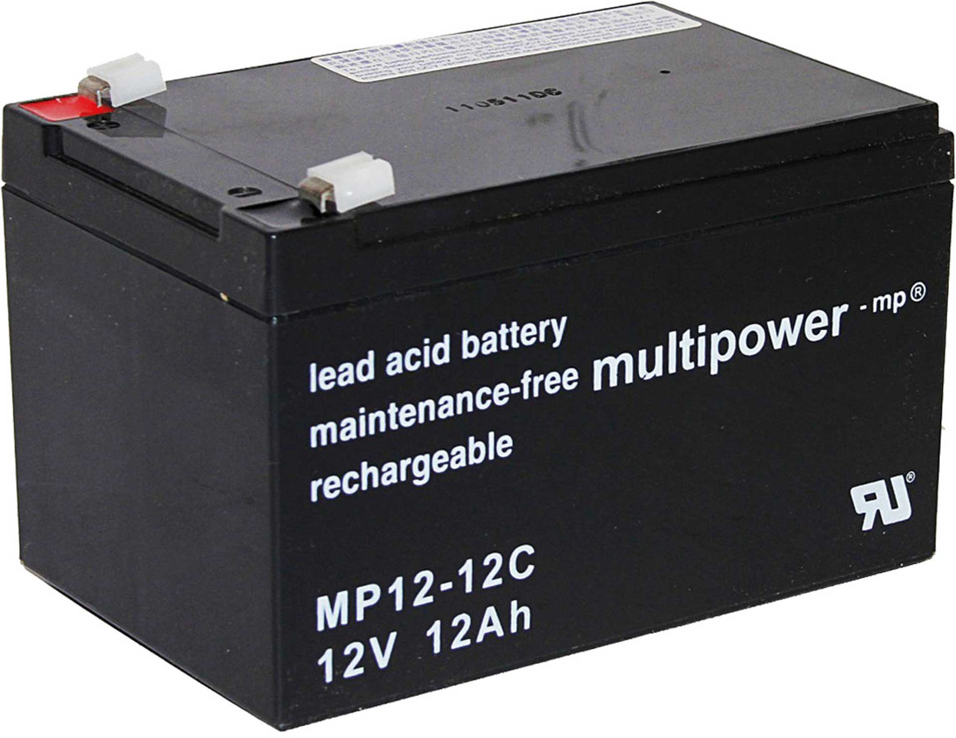 MULTIPOWER LEAD ACID BATTERY MP12-12C PB 12V / 12A H CYCLE FASTON 6,3 151/98/98MM