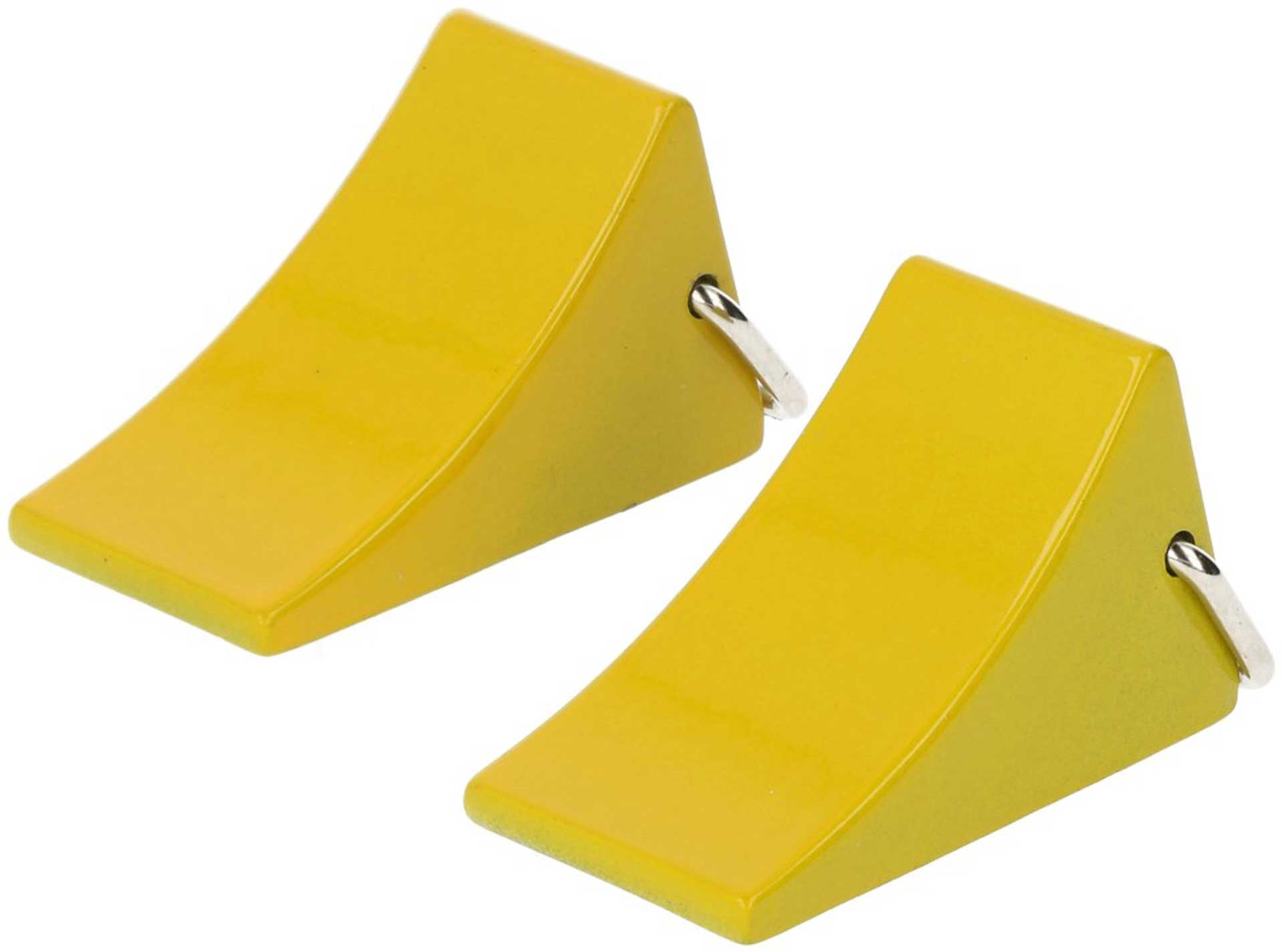 ROBITRONIC Wheel chocks Fuse yellow (2 pcs.) Drag Shoes Cast Iron