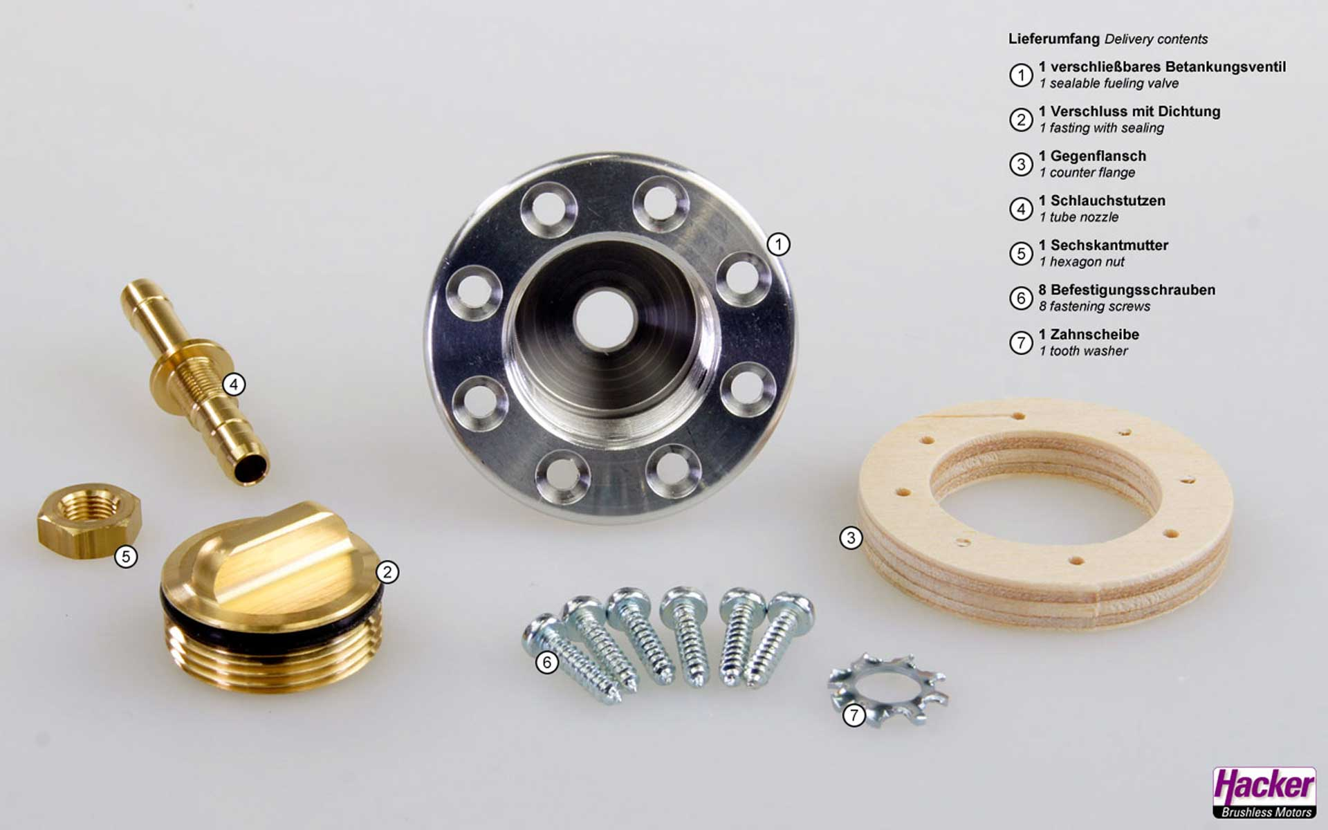 HACKER Refuelling valve lockable