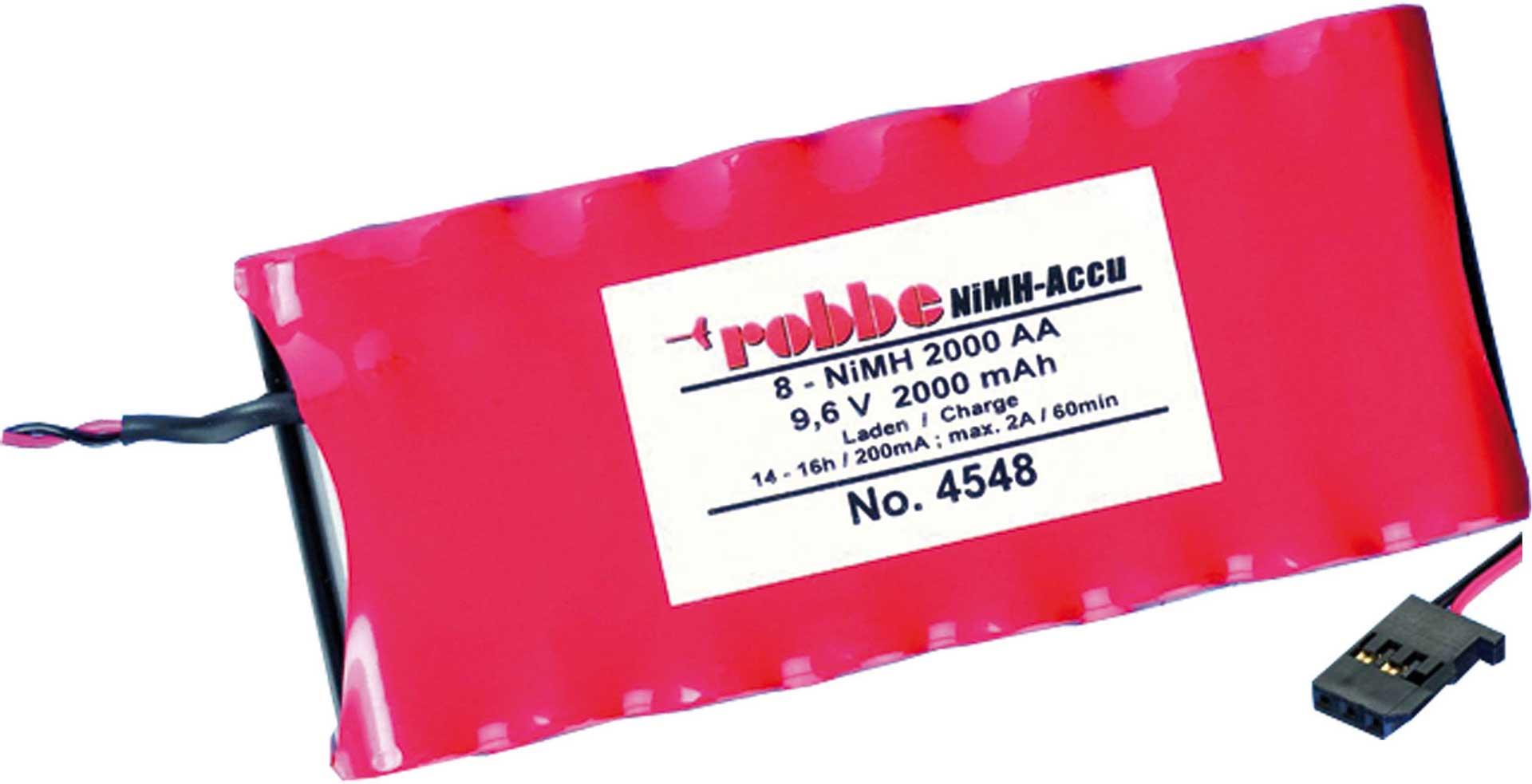 Robbe Modellsport SENDERAKKU 2000MAH / 9,6V T4EX, T6, T3G