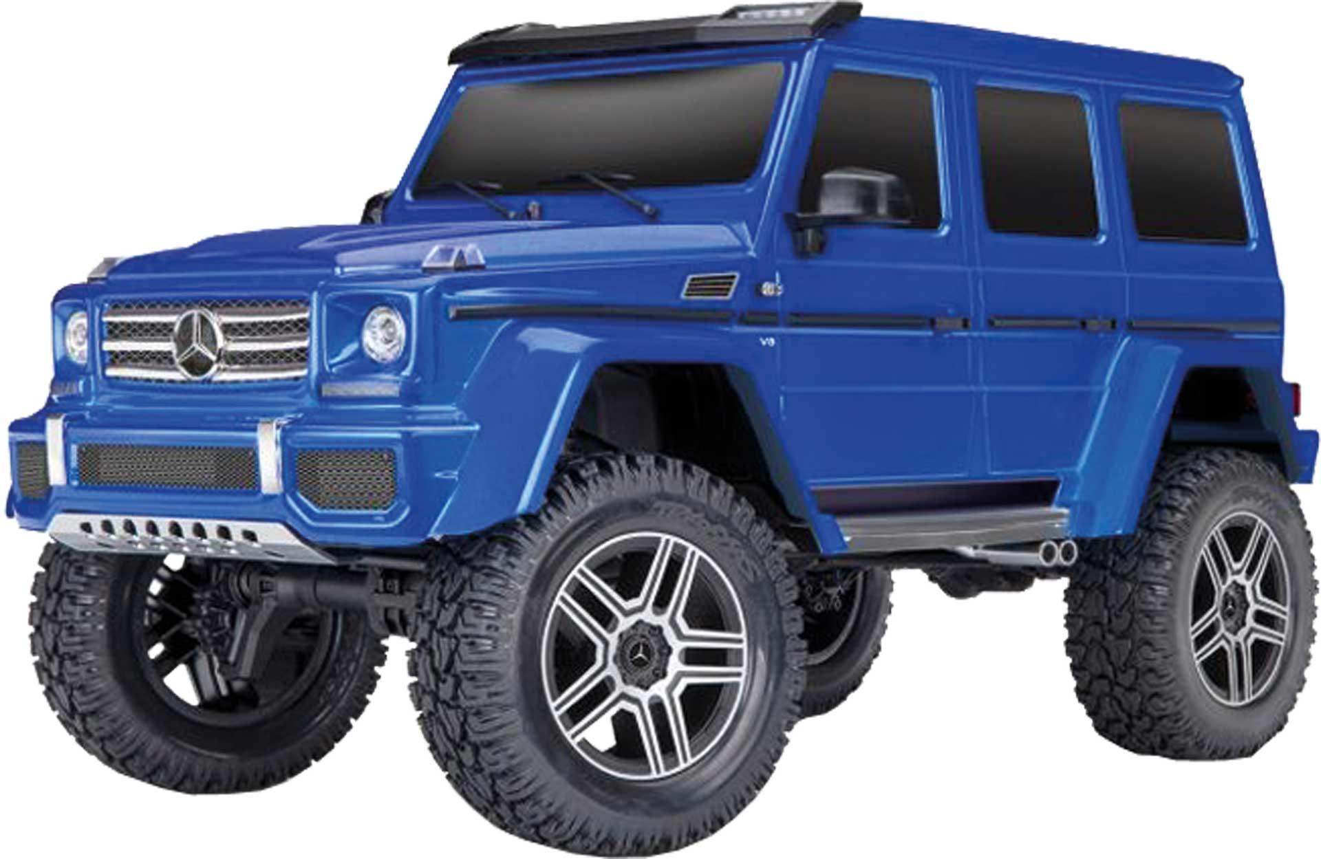 TRAXXAS TRX-4 MERCEDES G 4X4² RTR BLAU 1/10 OHNE AKKU / LADER 4WD SCALE CRAWLER BRUSHED