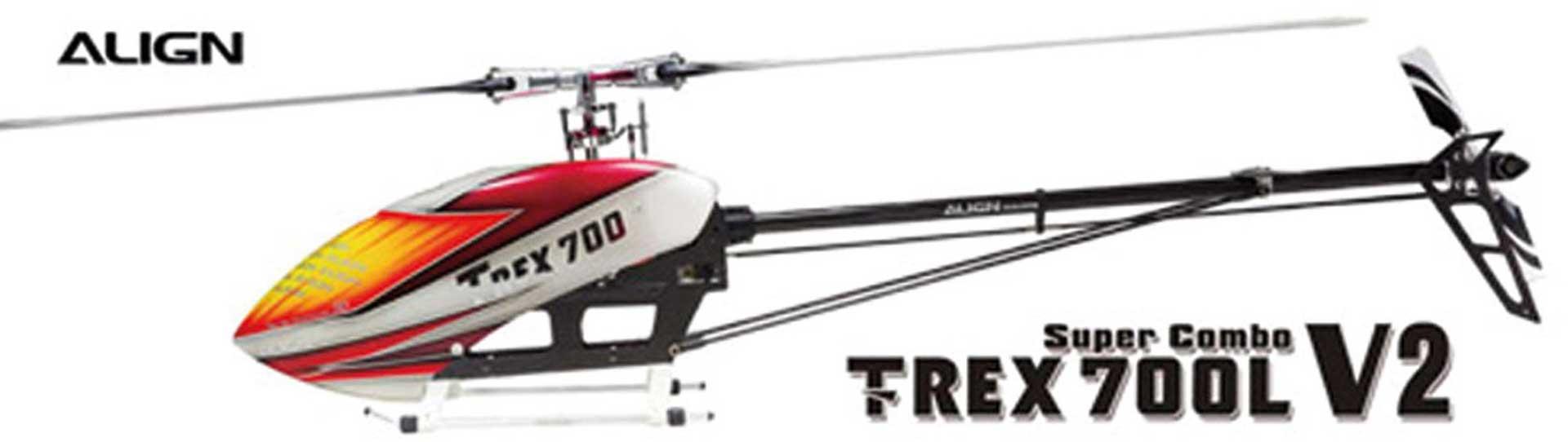 ALIGN T-REX 700L V2 SUPER COMBO inkl. MB+ Hubschrauber / Helikopter