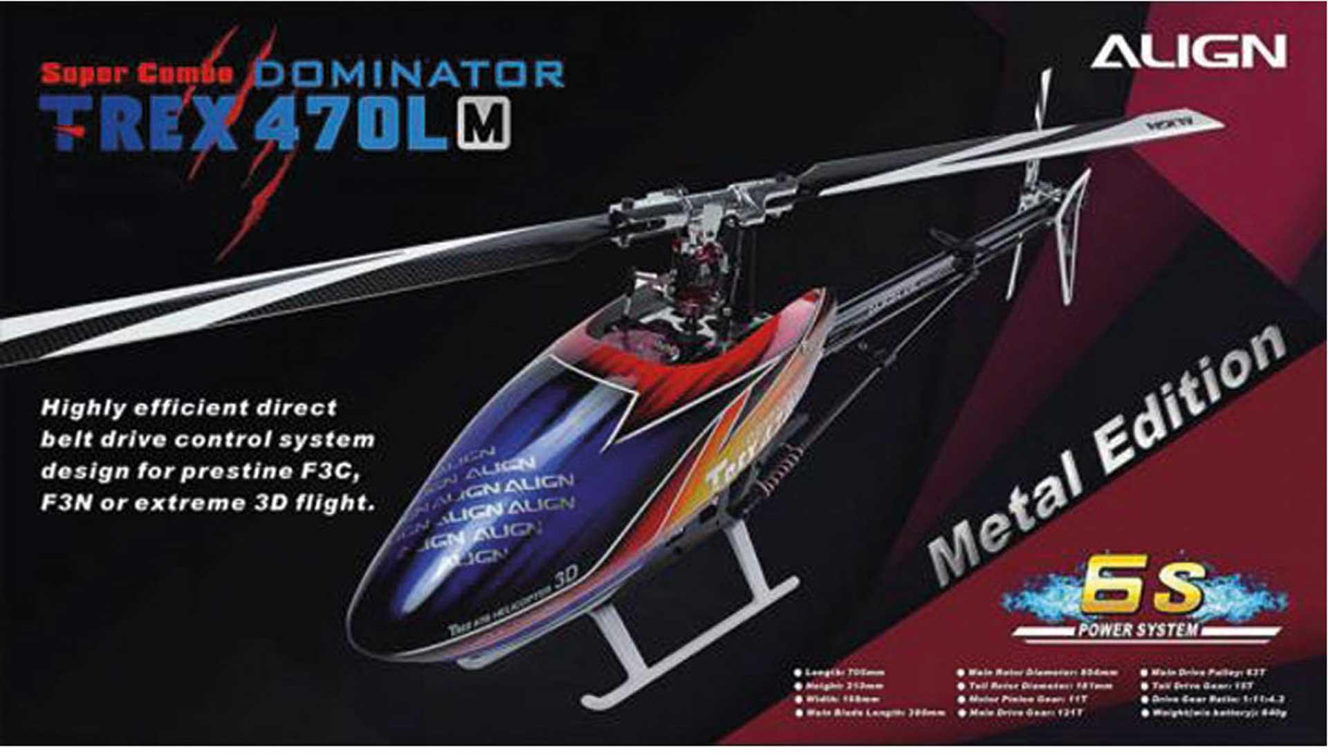 ALIGN T-REX 470LM DOMINATOR COMBO Hubschrauber / Helikopter