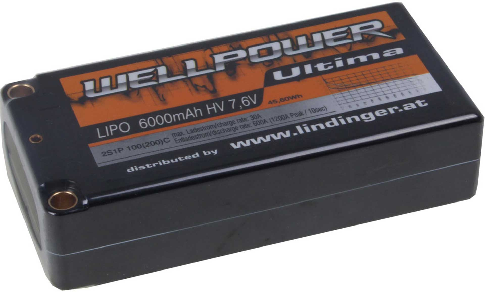 WELLPOWER LIPO AKKU ULTIMA CAR 6000 MAH / 7,6 VOLT HV 2S1P 100/200C SHORTY