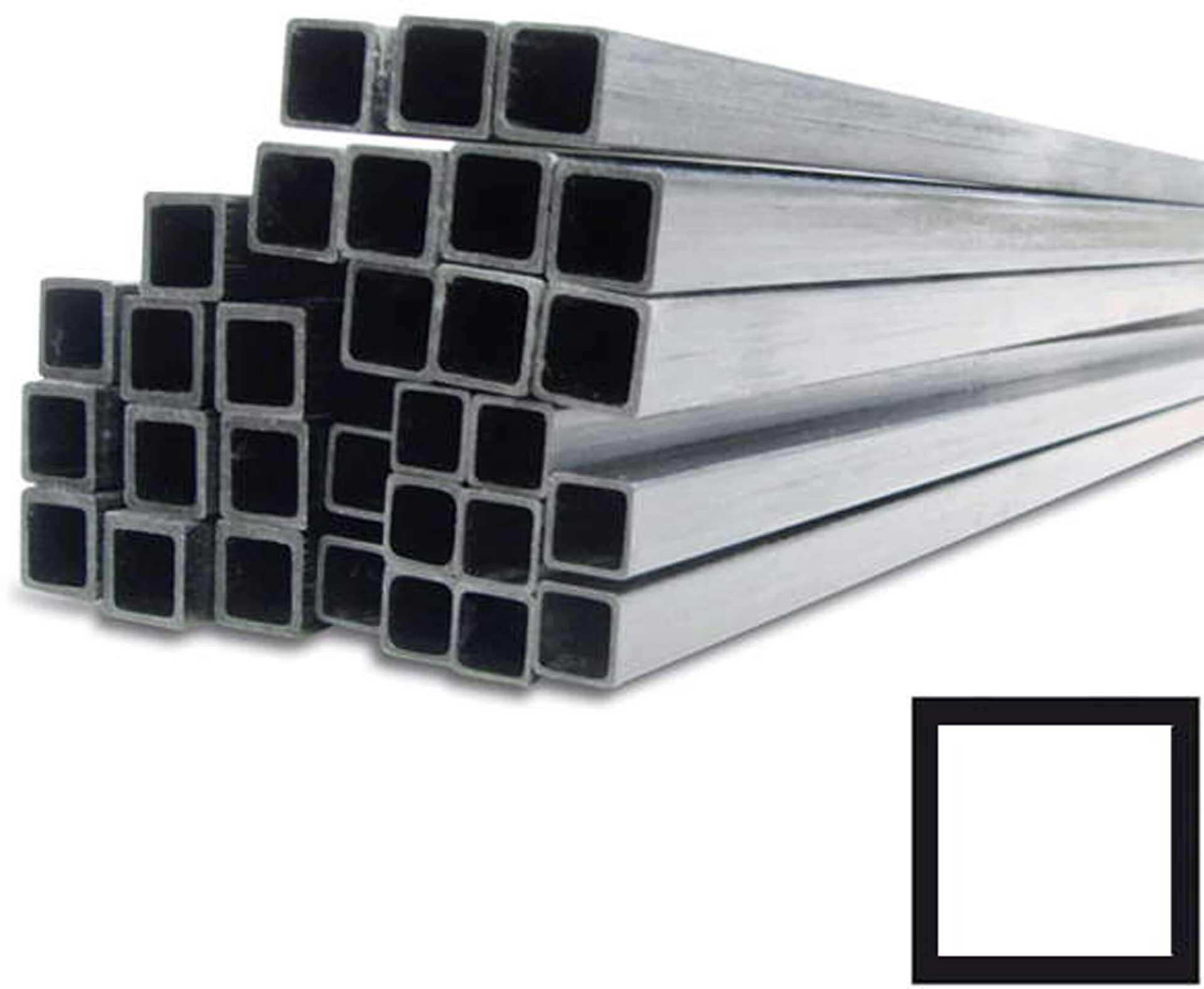 R&G CFK-Quadratrohr (21x21 / 25x25)x1000mm