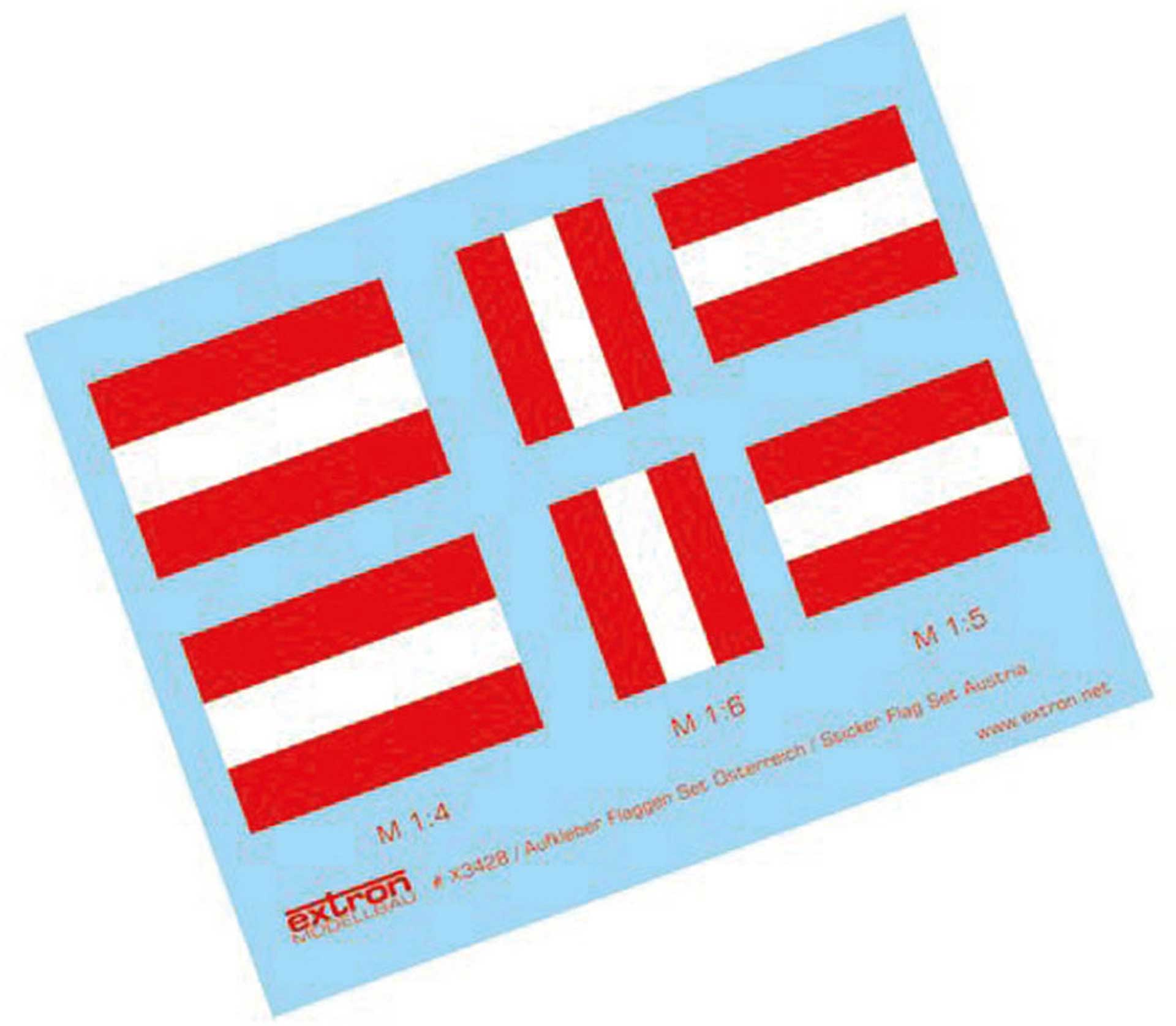 EXTRON AUFKLEBER FLAGGEN ÖSTERREICH