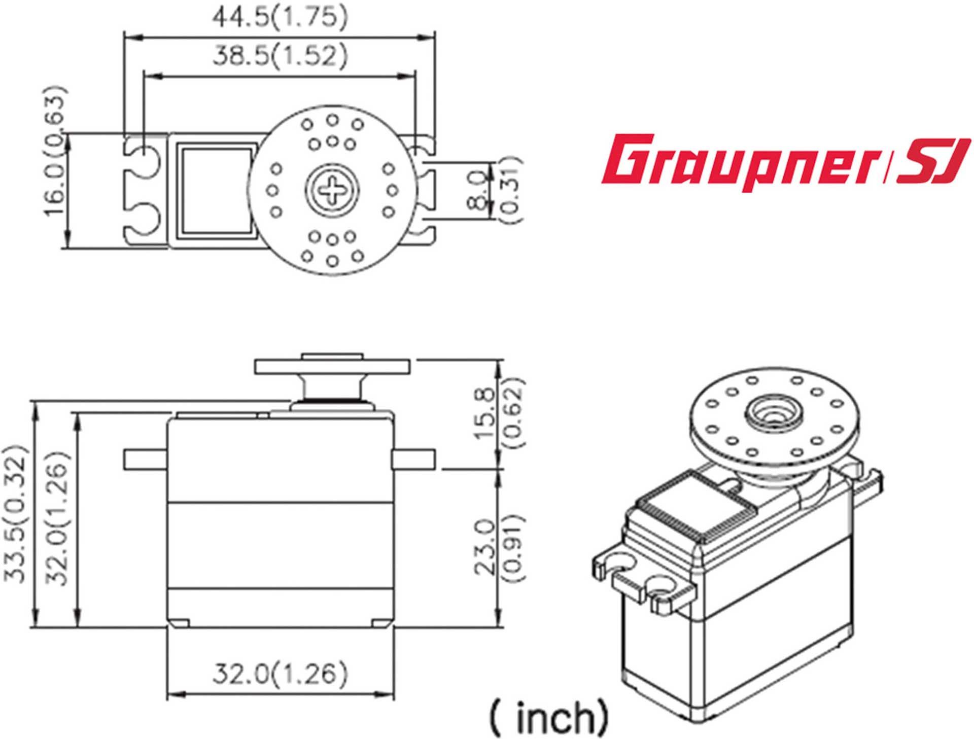 GRAUPNER DES 658 BB MG DIGITAL SERVO