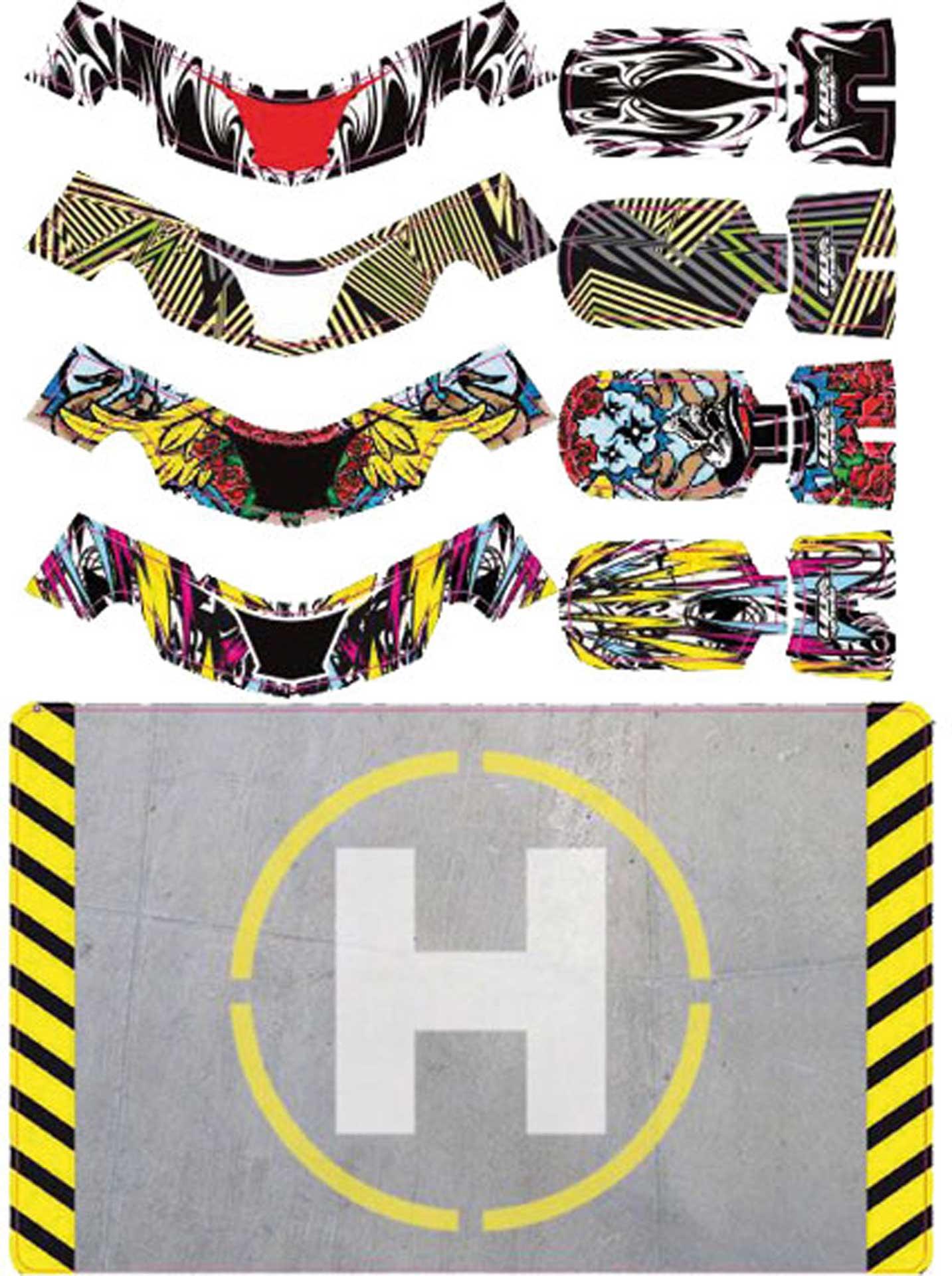 HOBBYZONE FAZE STICKER SET 2 + HELIPAD