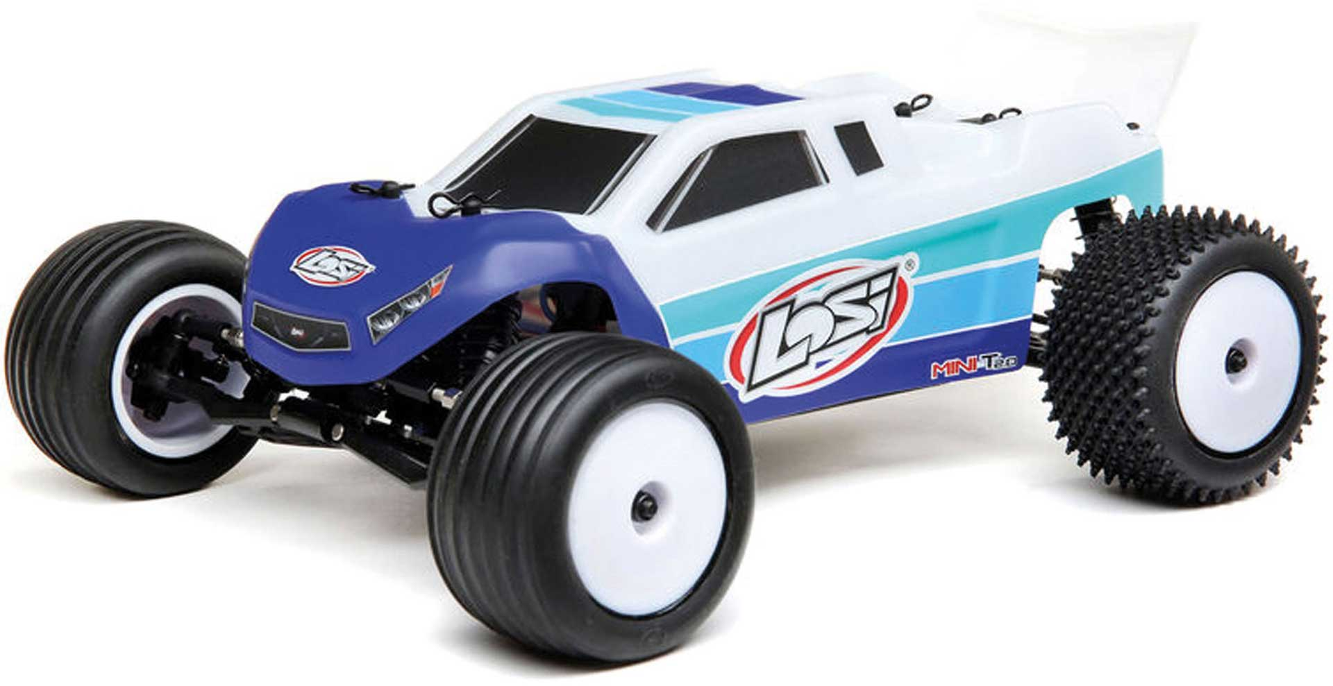 LOSI Mini-T 2.0 2WD Stadium Truck 1/18 RTR Brushless Blue/White