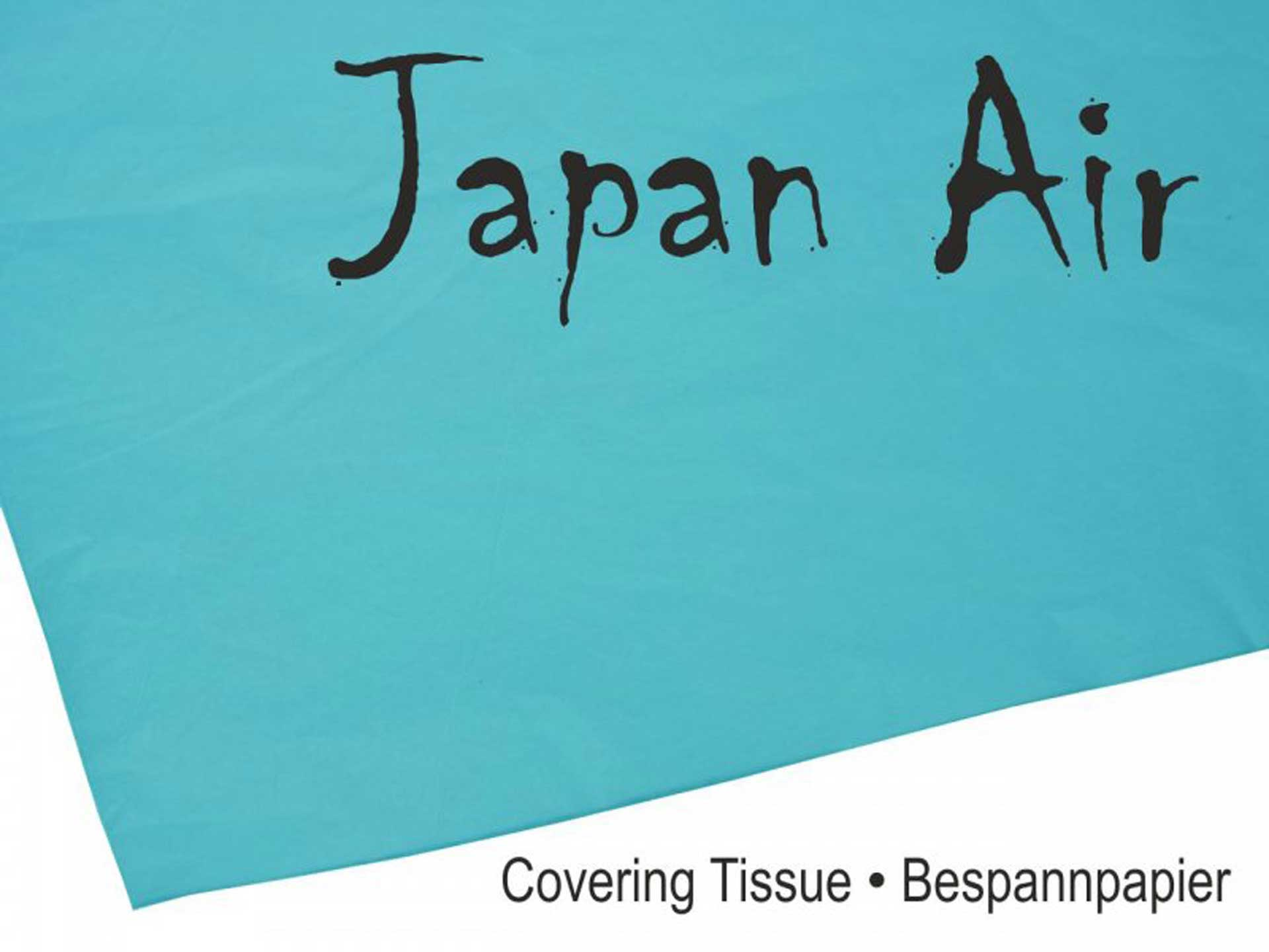 MODELLBAU LINDINGER JAPAN AIR Bespannpapier 16g blau 500 x 750 mm 10Stk. gerollt