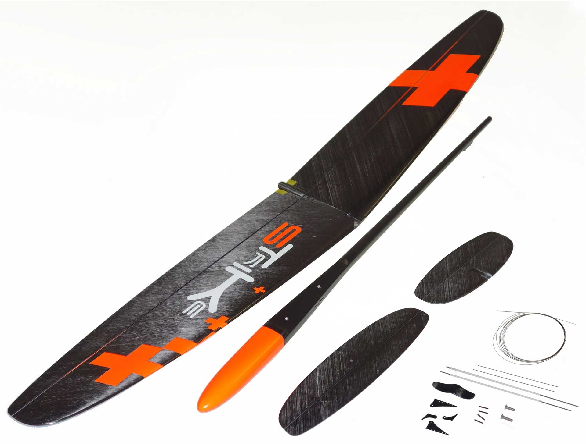 "OA-Composites Strike 3 Mini DLG Schleudersegler Farbe # A (""Plus"" Orange)"