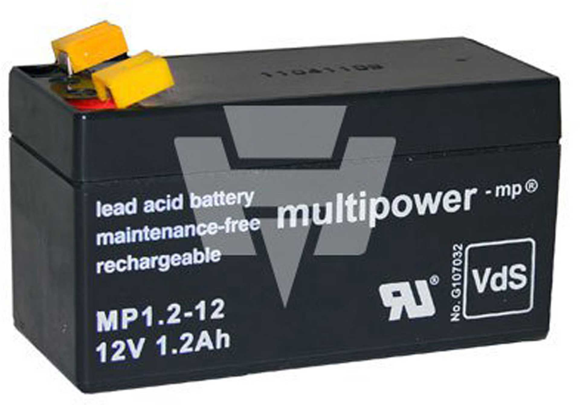 MULTIPOWER LEAD BATTERY 12V 1,2AH