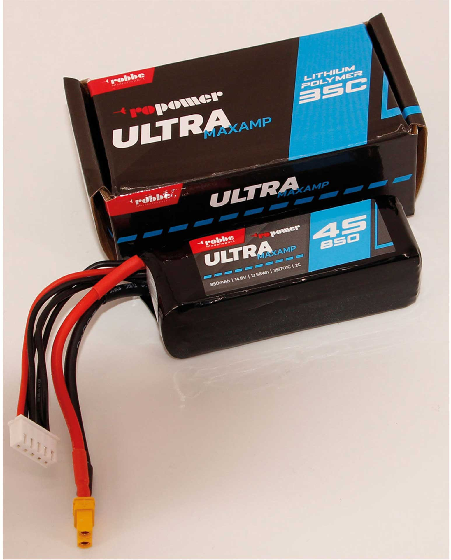 Robbe Modellsport RO-POWER ULTRA MAXAMP 850MAH 14,8 VOLT 4S 35(70)C LIPO AKKU