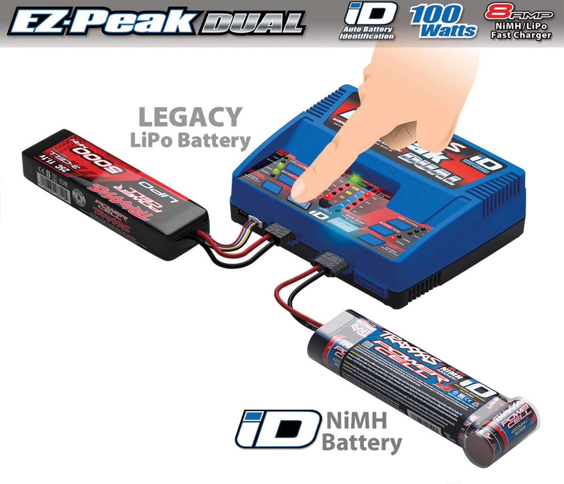 TRAXXAS DUAL EZ-Peak Plus-Lader 2972GX + 2x 3S Lipo 5000mAh 2872X
