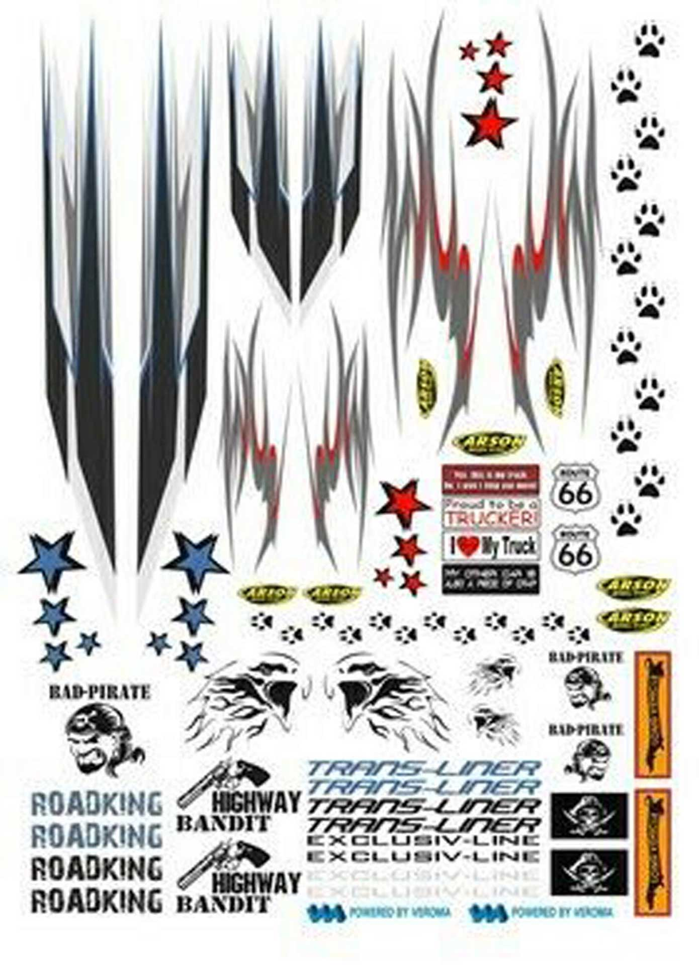 CARSON DECAL SHEET FOR  TRUCK  DECAL STRIPES