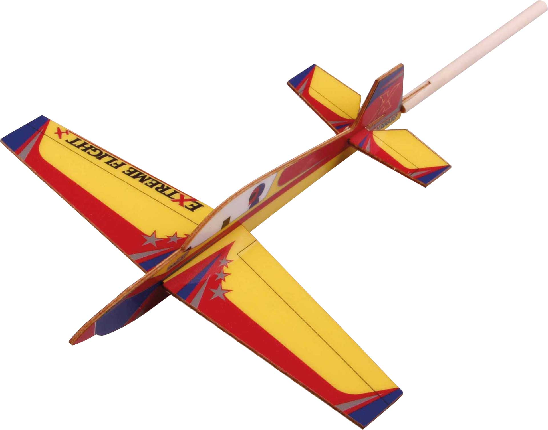 EXTREMEFLIGHT-RC STICK PLANE EXTRA 300 175MM Gelb/Orange/Blau