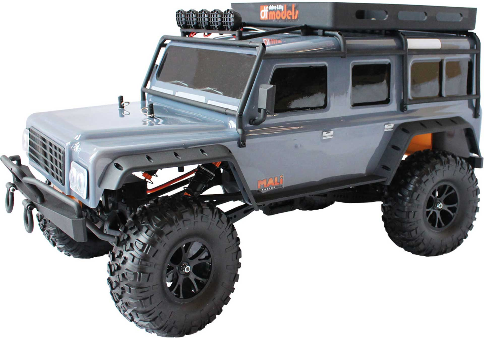 DRIVE & FLY MODELS DF-4J CRAWLER XXL RTR GREY 4WD 1/10 WITH LIGHTING AND 5CH TRANSMITTER
