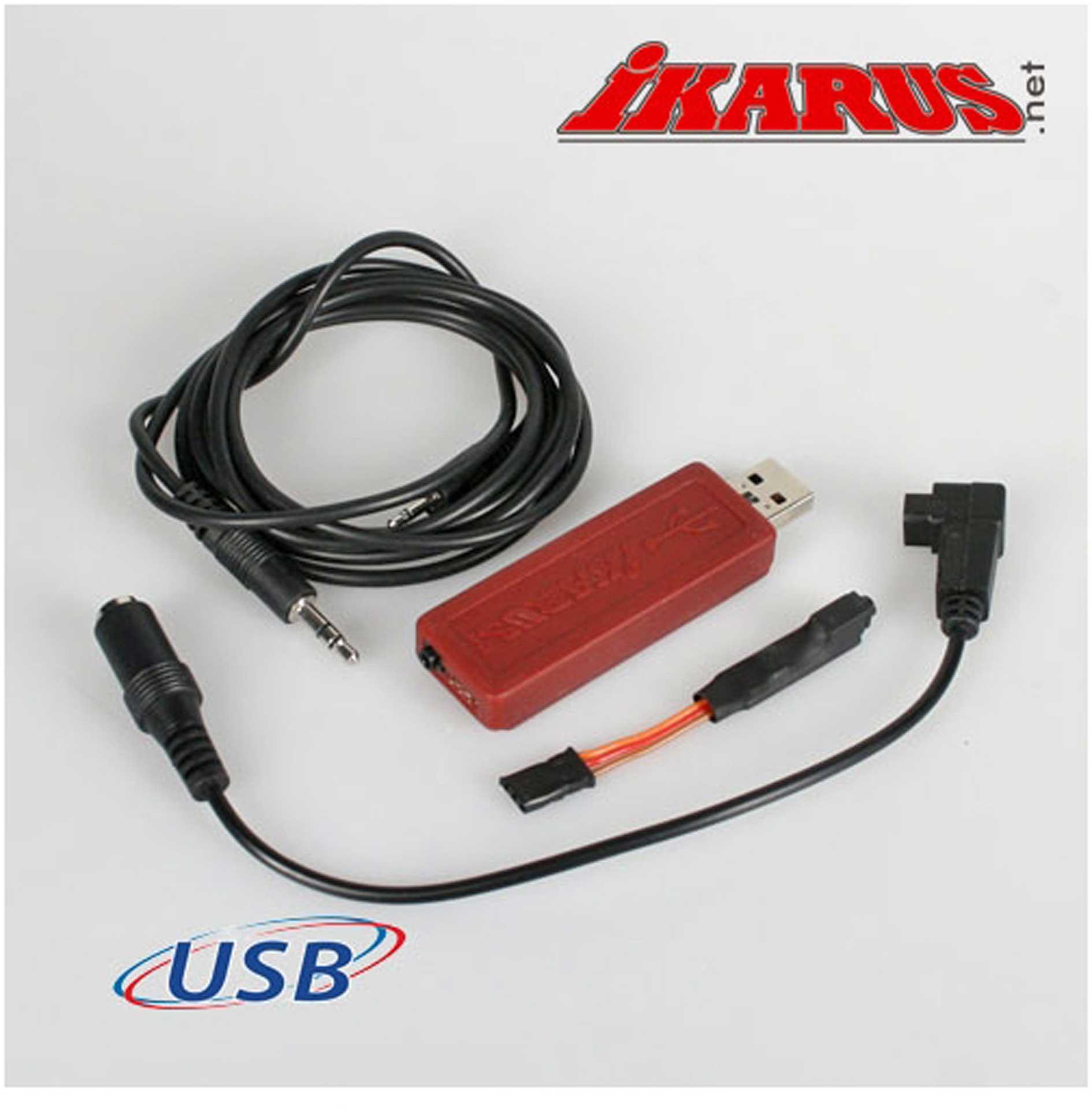 IKARUS USB-Interface set for 6-pin-Student socket (FUTABA)