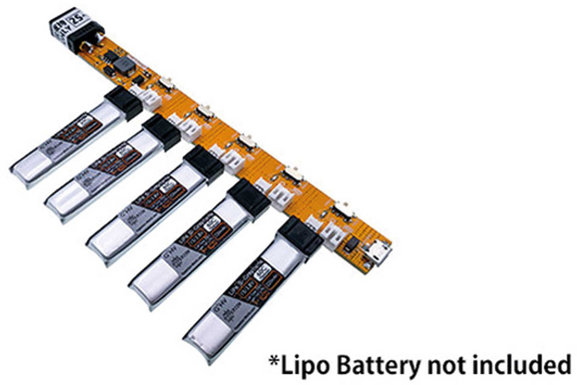 HYPERION ADAPTER BOARD 5X 1S LIPOS WITH UMX OR JST CONNECTION OF USB OR XT60