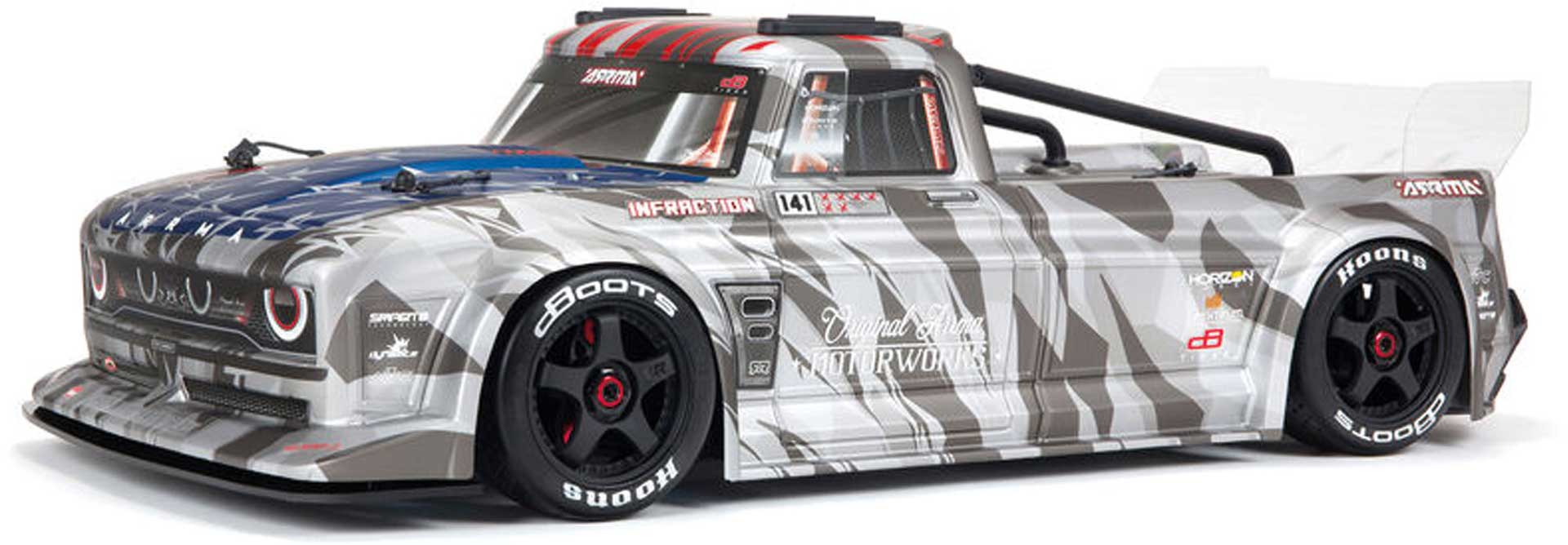 Arrma INFRACTION 6S BLX 1/7 All-Road Truck Silver