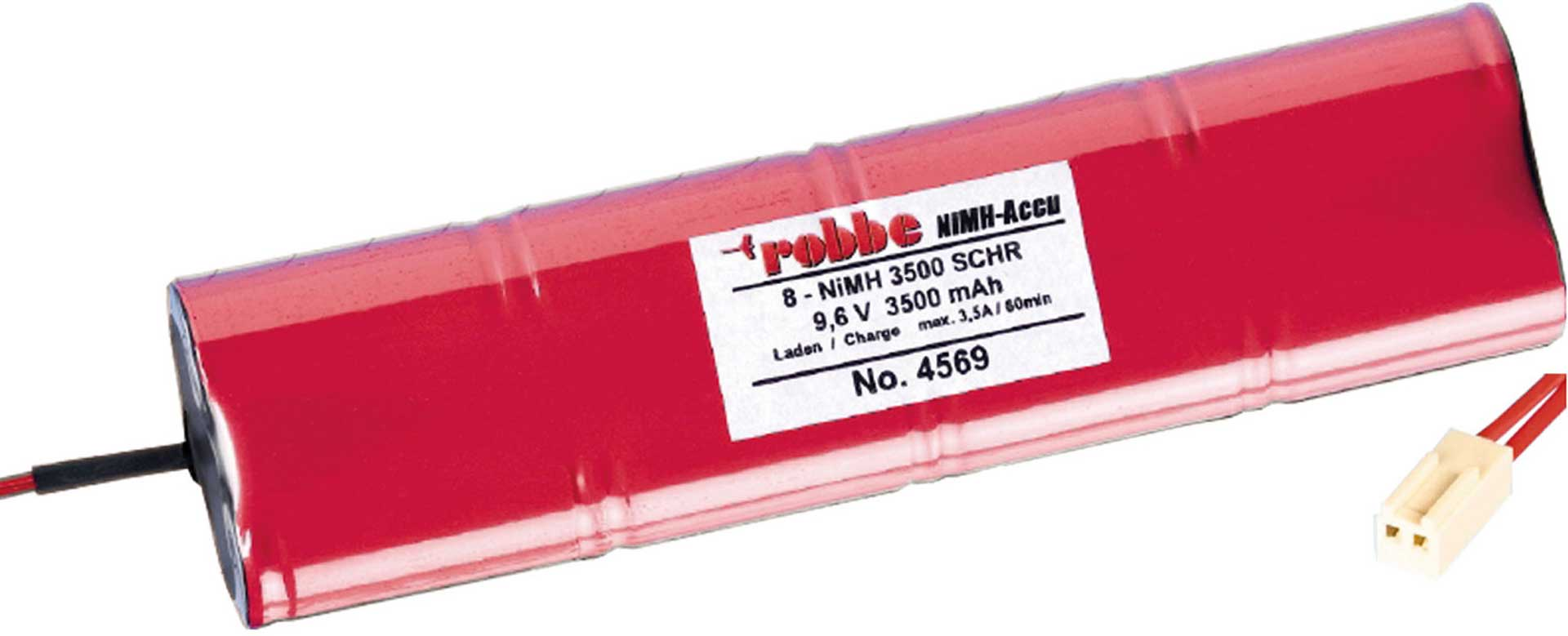 ROBBE TRANSMITTER BATTERY 3500MAH/9,6V F-SERIE FOR F-14, FC-18, WITH MOLEX CONNECTOR