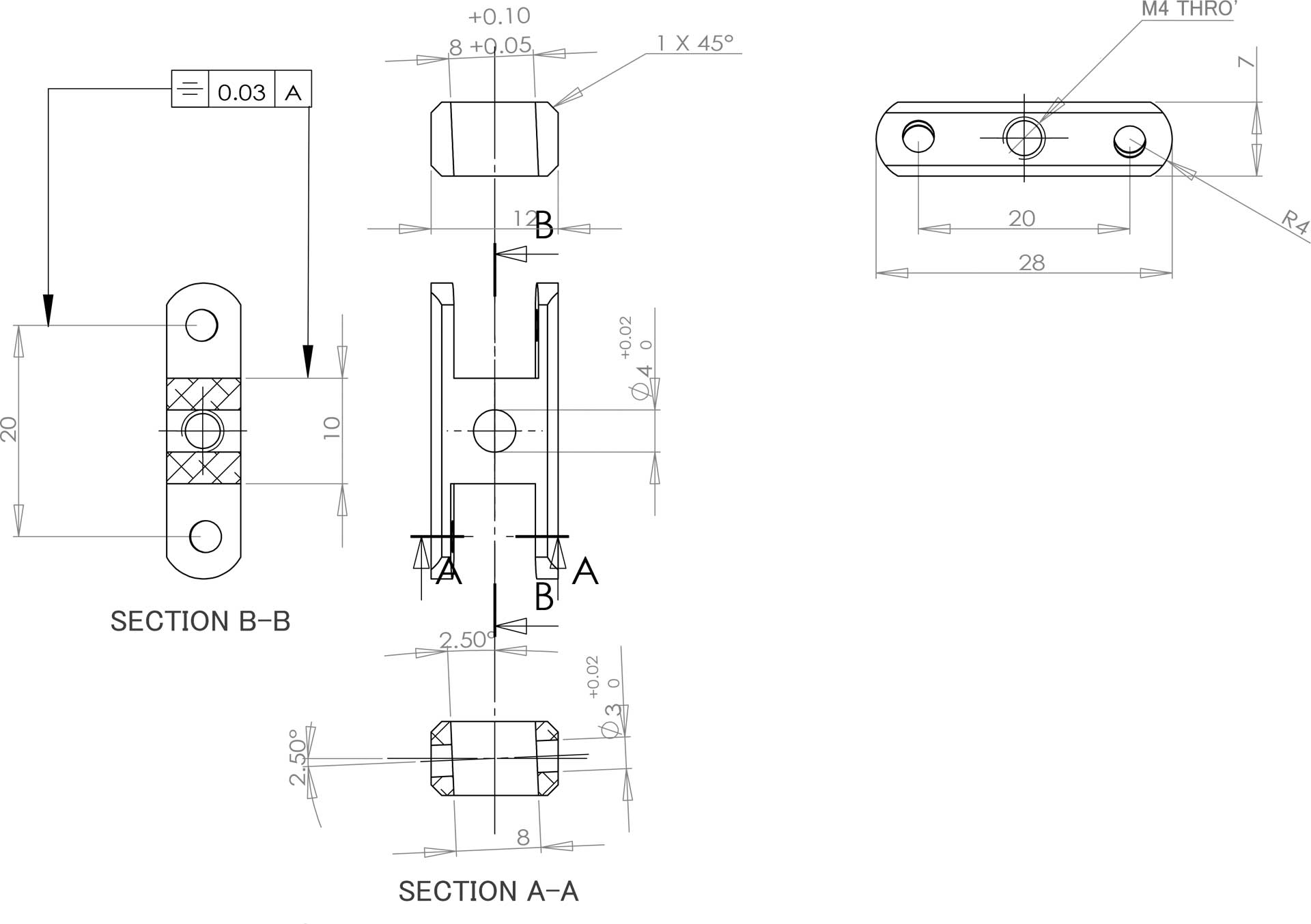 Robbe Modellsport avec telteil LS 5030/14;LS 6330/15, 30mm, 2,5°, 6mm