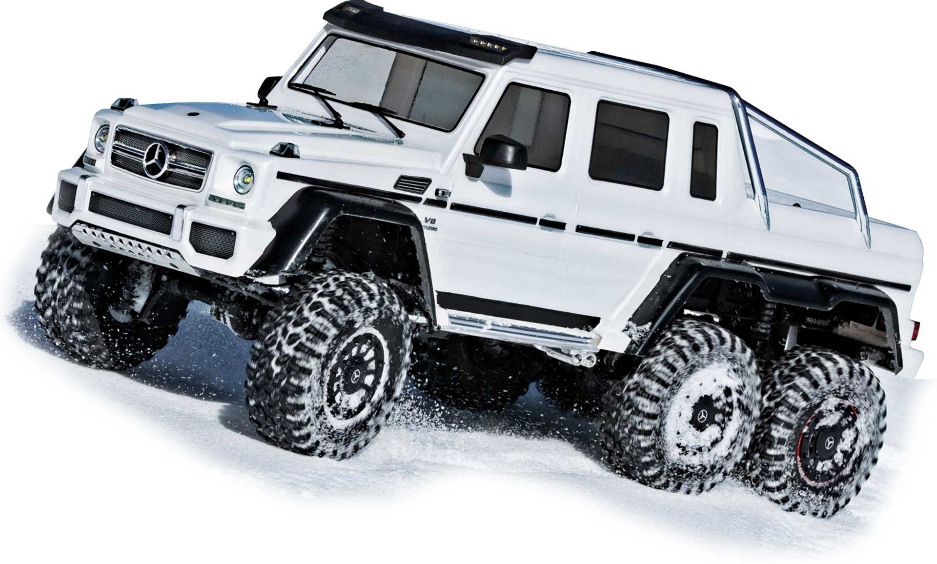 TRAXXAS TRX-6 MERCEDES-BENZ G 63 AMG 6X6 CRAWLER WHITE BRUSHED RTR 1/10 WITH LIGHT