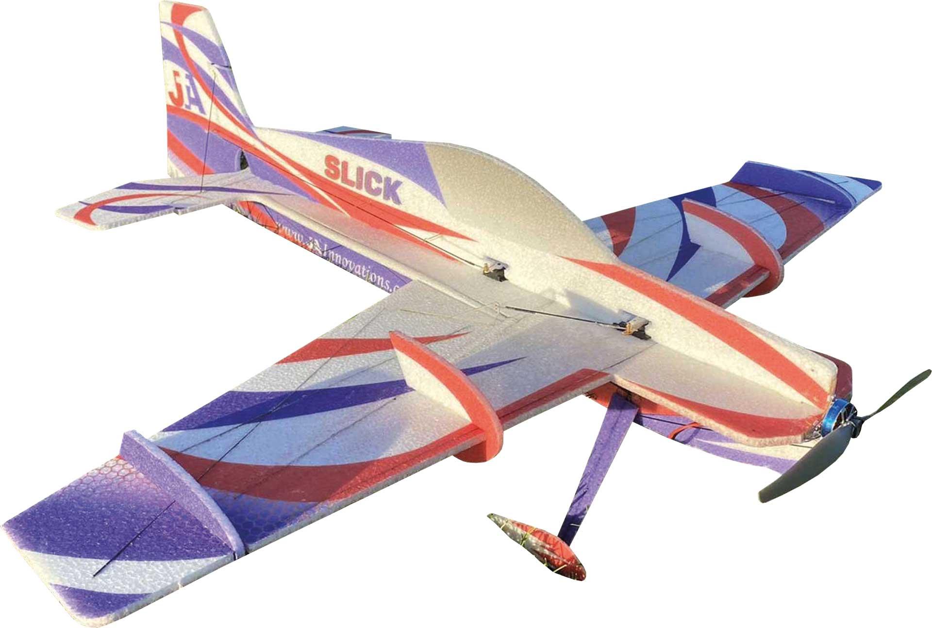 """JTA Innovations SLICK (blau/weiss) 33"""" EPP 3D-Kunstflug Modell"""
