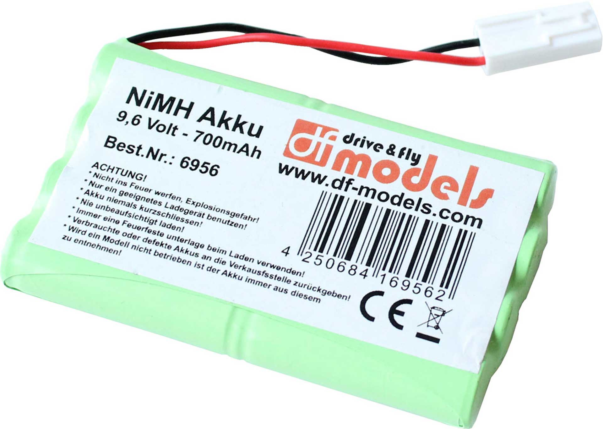 DRIVE & FLY MODELS NIMH AKKU 9,6V 700MAH