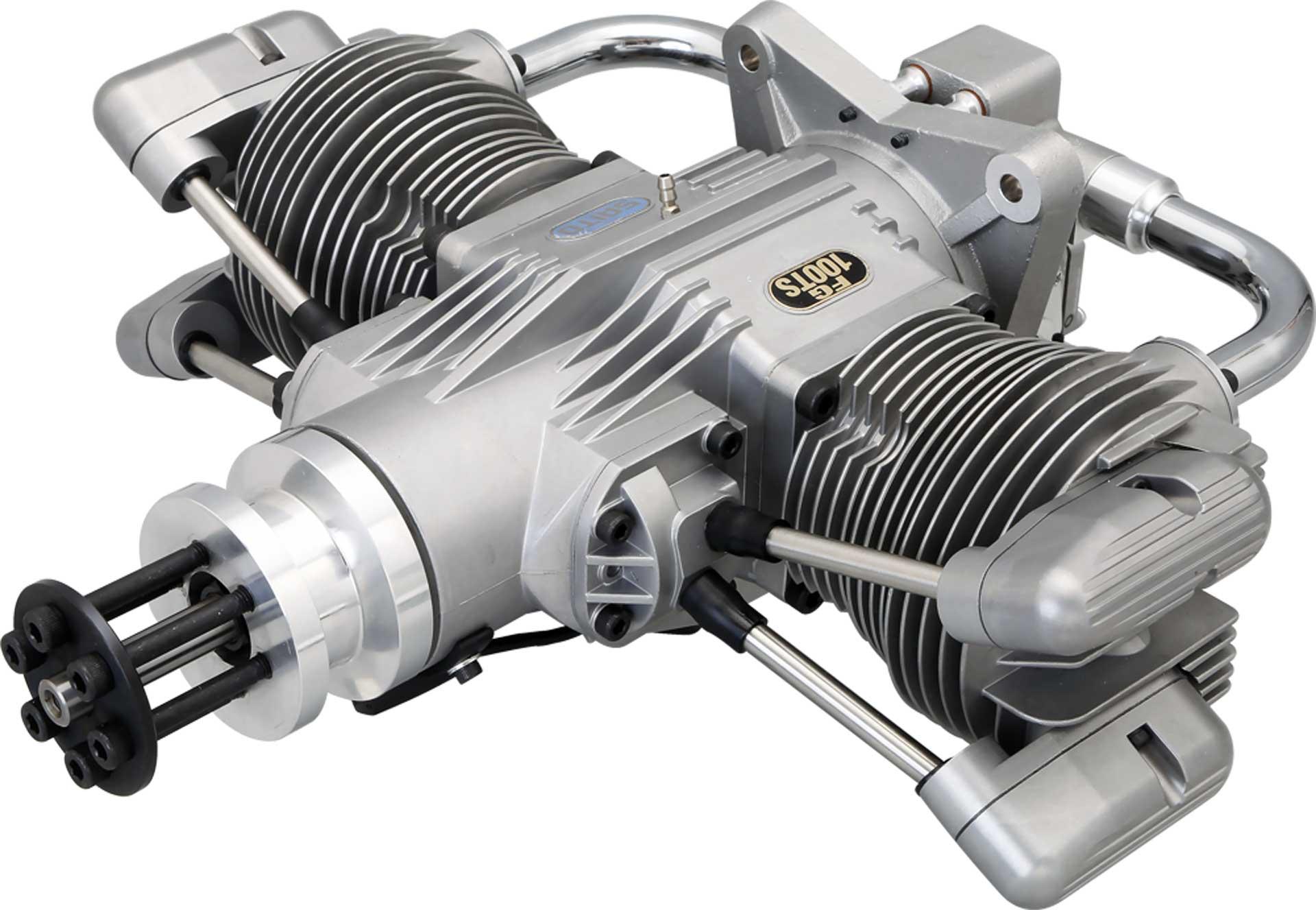 SAITO FG-100TS BOXER BENZIN MOTOR 2-ZYLINDER