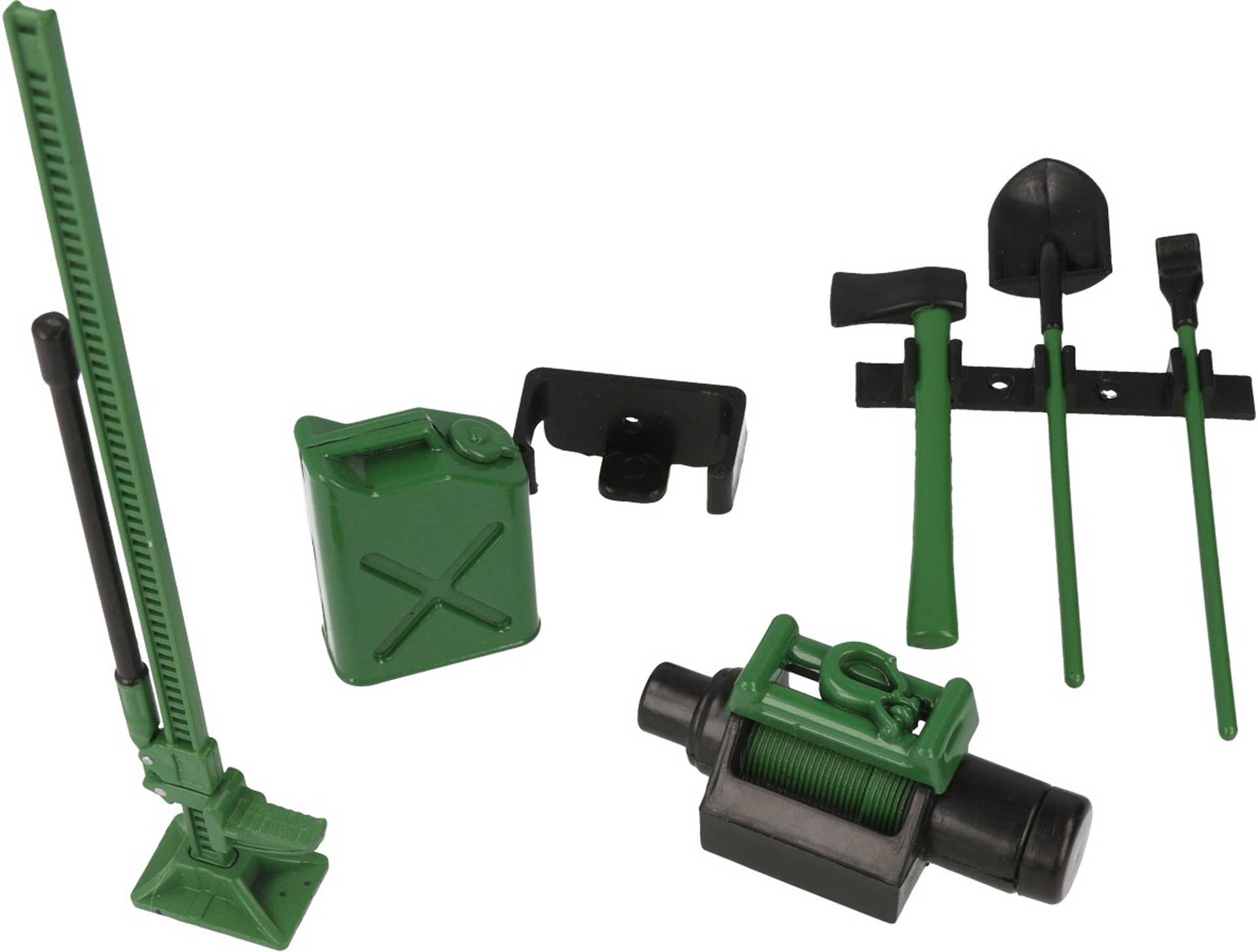 ROBITRONIC Tool Set with Holder Decor Green