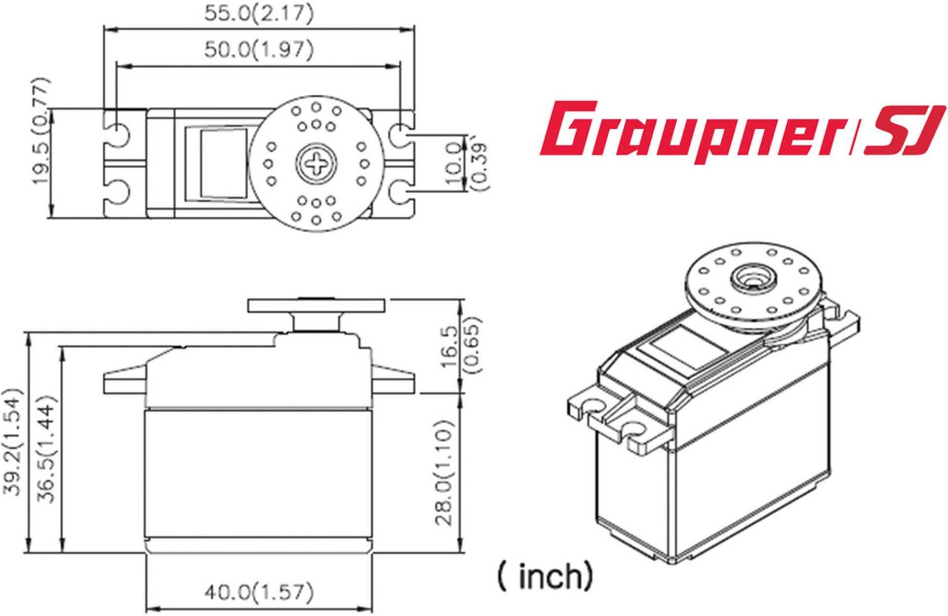 GRAUPNER DES 806 BB MG DIGITAL SERVO