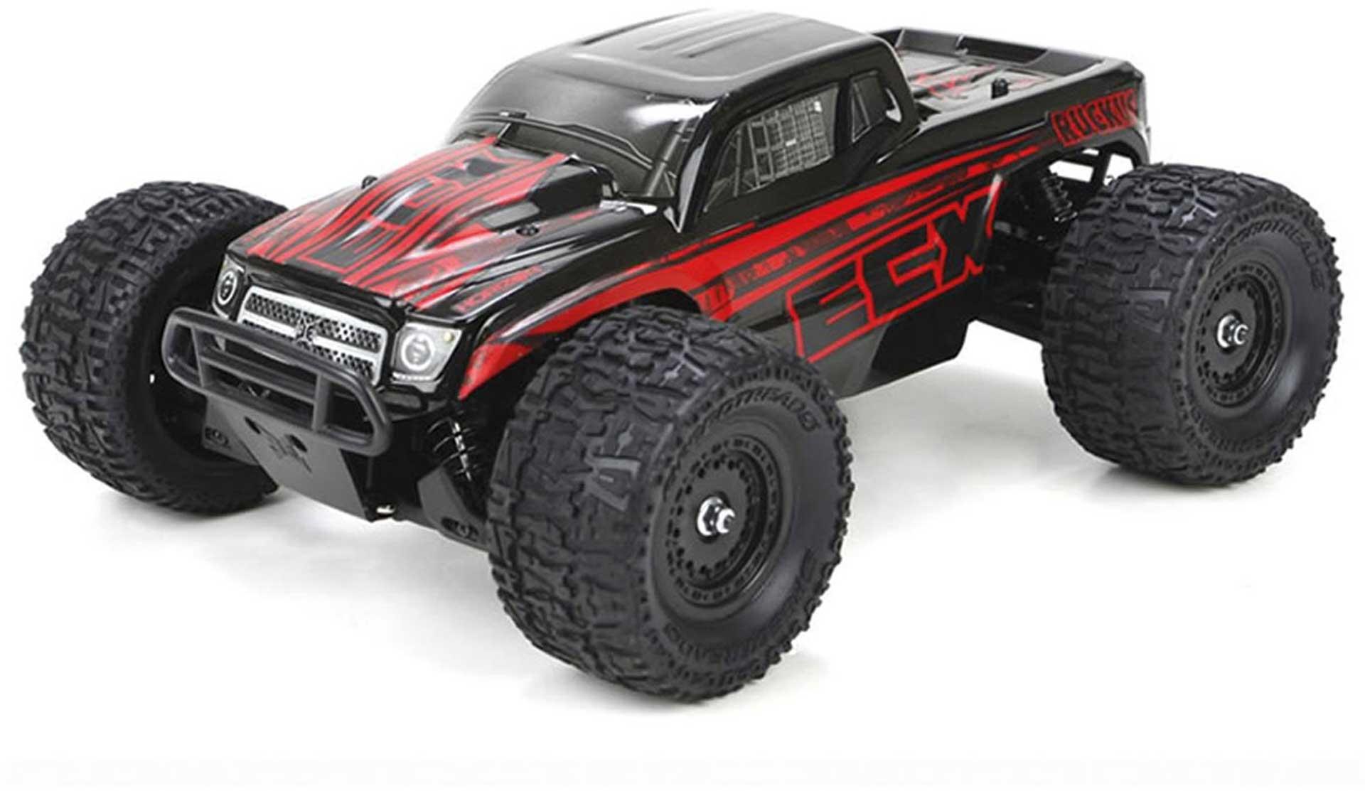 ECX RUCKUS 1/18 4WD MONSTER TRUCK SCHWARZ ROT RTR