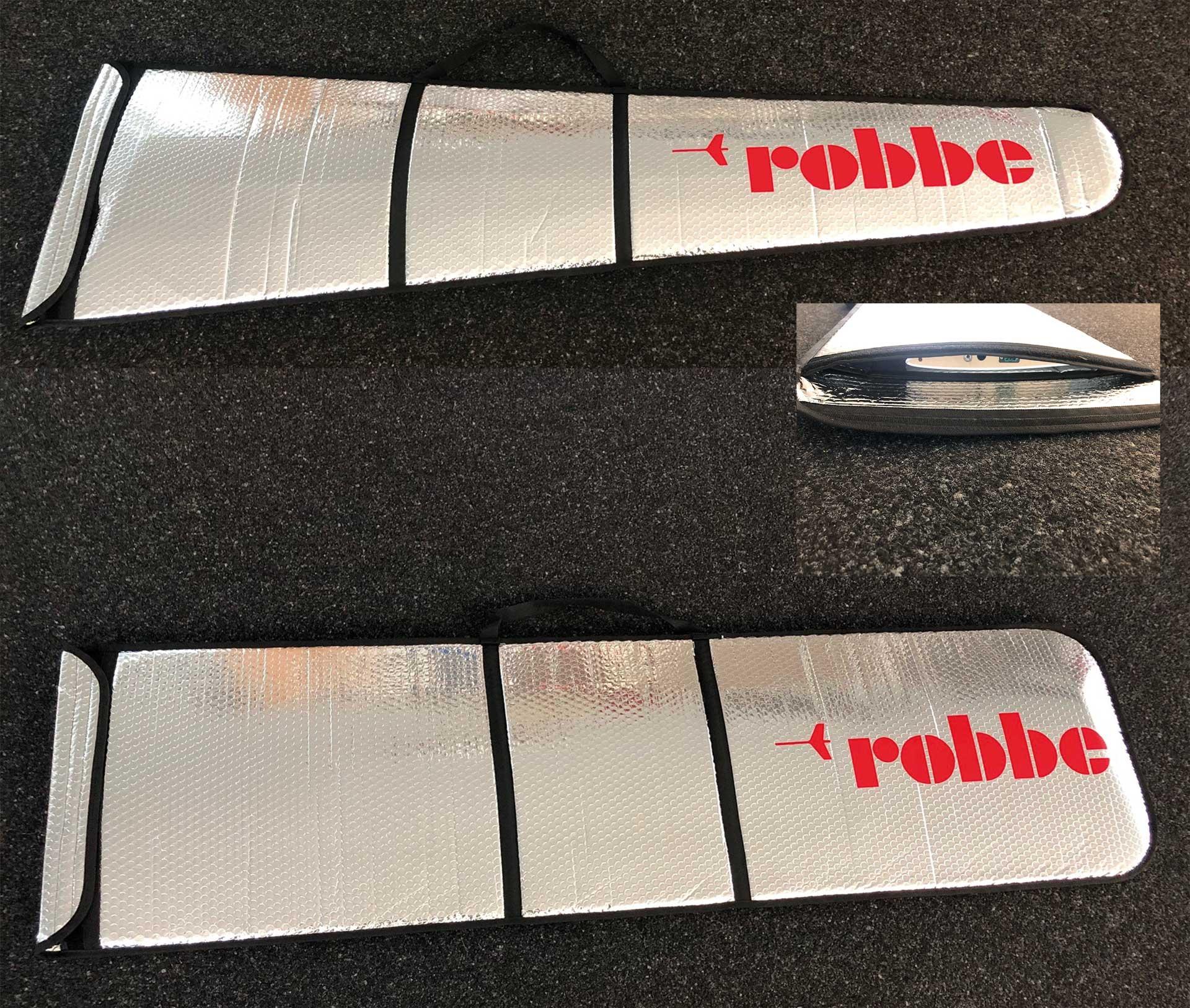Robbe Modellsport Sac de protection de la surface en aluminium Cyclone XT 2 parties également pour l'empennage